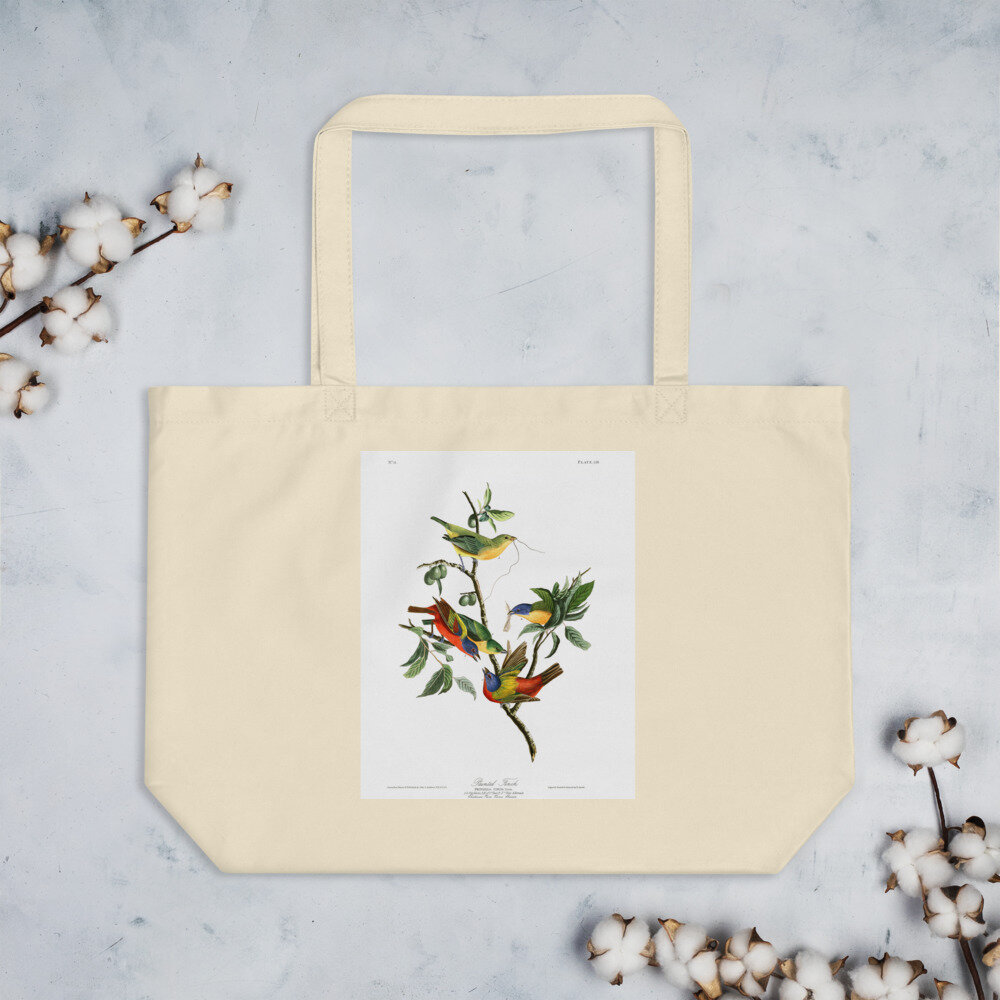 Painted Bunting Organic Cotton Tote Bag