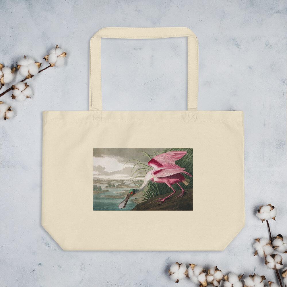 Roseate Spoonbill Organic Cotton Tote Bag