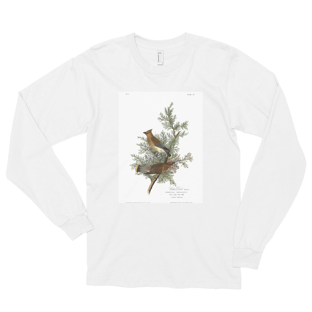 Cedar Waxwing Long Sleeve Shirt: Click to View