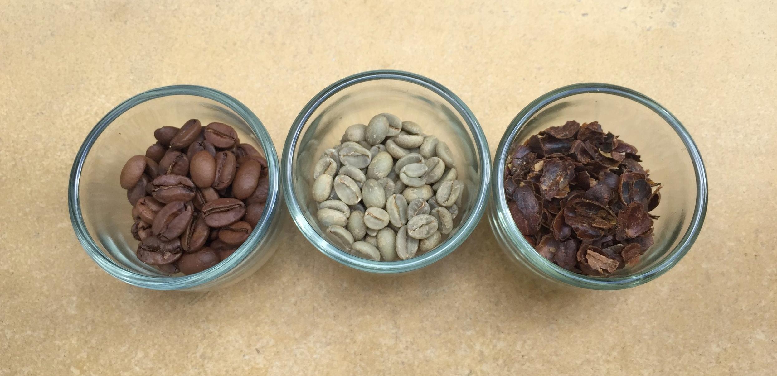 cafe natural, tostado, verde, y cascara – utilizamos cafe organico para nuestro cold brew mexicano