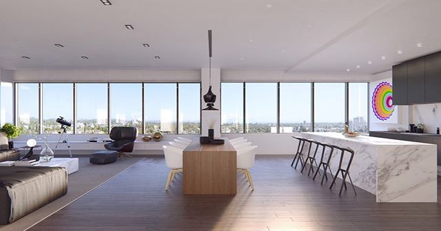 Developed for optimal views, #388Cordova boasts open living spaces with plenty of room to entertain. Its 57 unique homes, including this beautiful penthouse, make Pasadena's first luxury high-rise residences unbeatable.  #Adept #Pasadena