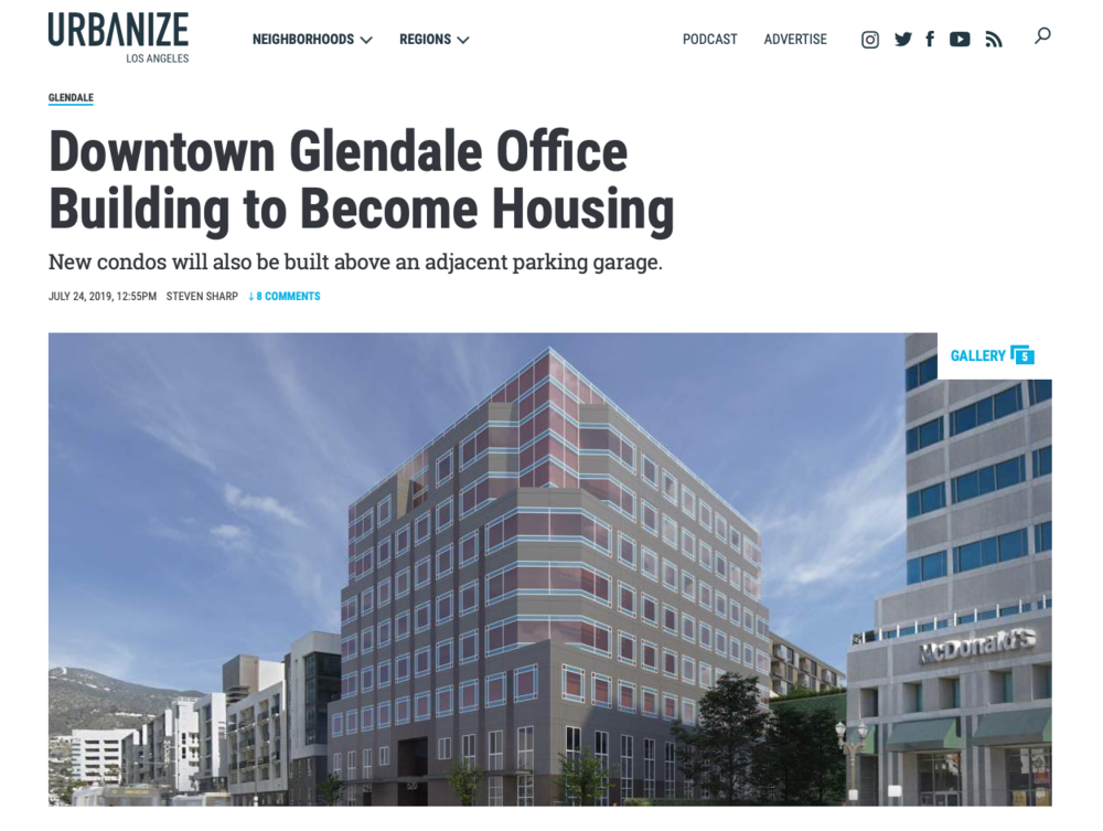 Glendale Approves Condo Adaptive Reuse
