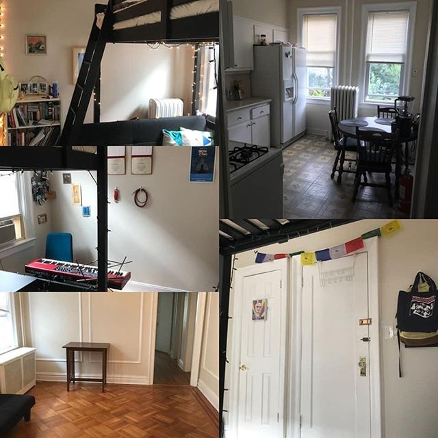 FURNISHED SUBLET ALERT  Looking for someone to occupy my beautiful Jersey City (McGinley Square) bedroom from April 5th-May 31 (dates very flexible). There is currently one other clean, respectful, quiet roommate.** Apt is 20-30 minutes from NYC on the Journal Square PATH. Grocery stores, gyms, parks, cafes, and bars are all nearby. Price is $750/month, all utilities except internet included (~$40 per month, if you choose). No couples or large pets, please. Musician and artist friendly (hello). **Note that this is a 3-bedroom, and it is likely that another permanent roommate would move in during your stay. This will not affect pricing in any way.