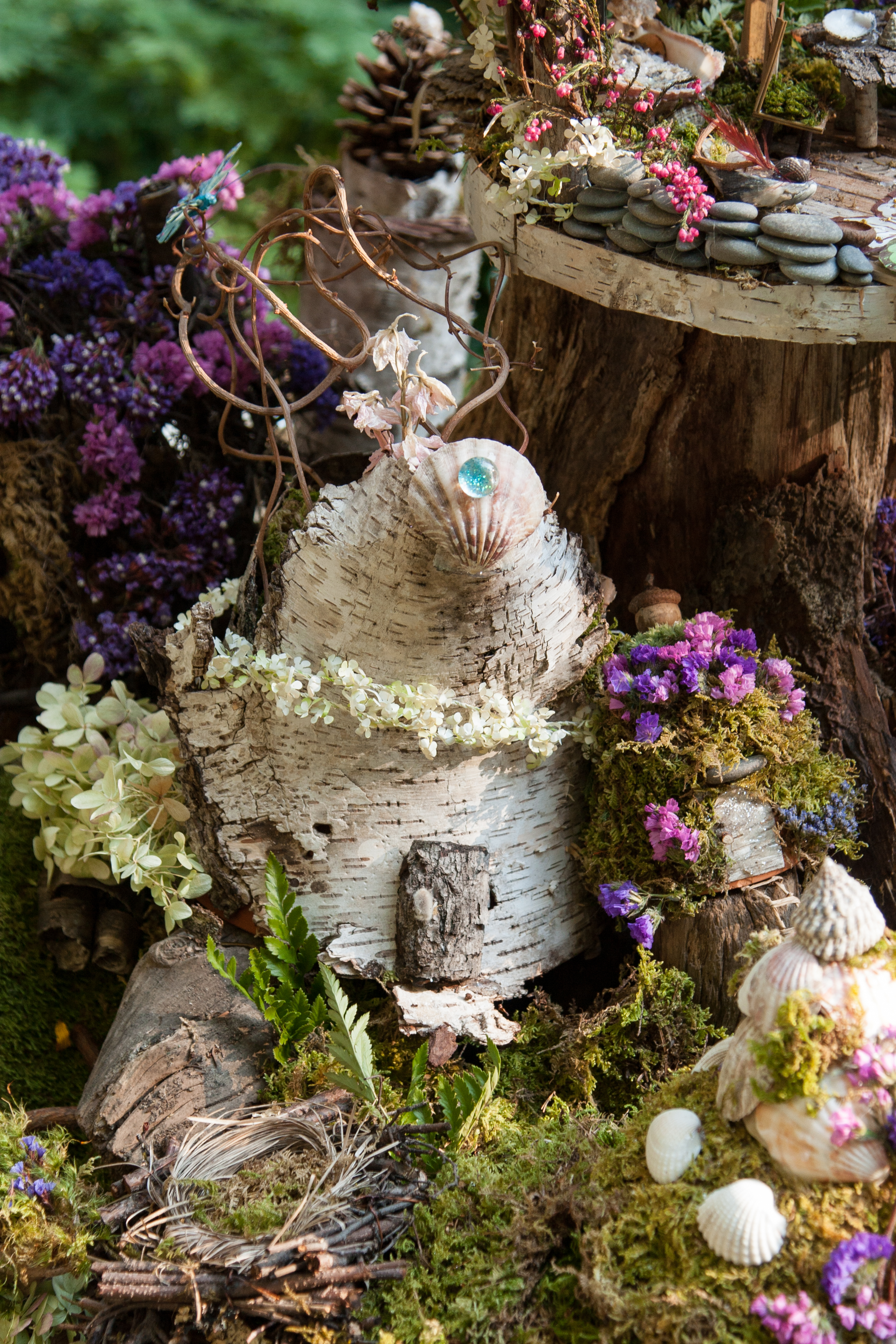 White Birch Fairy House -Nancy Ames-