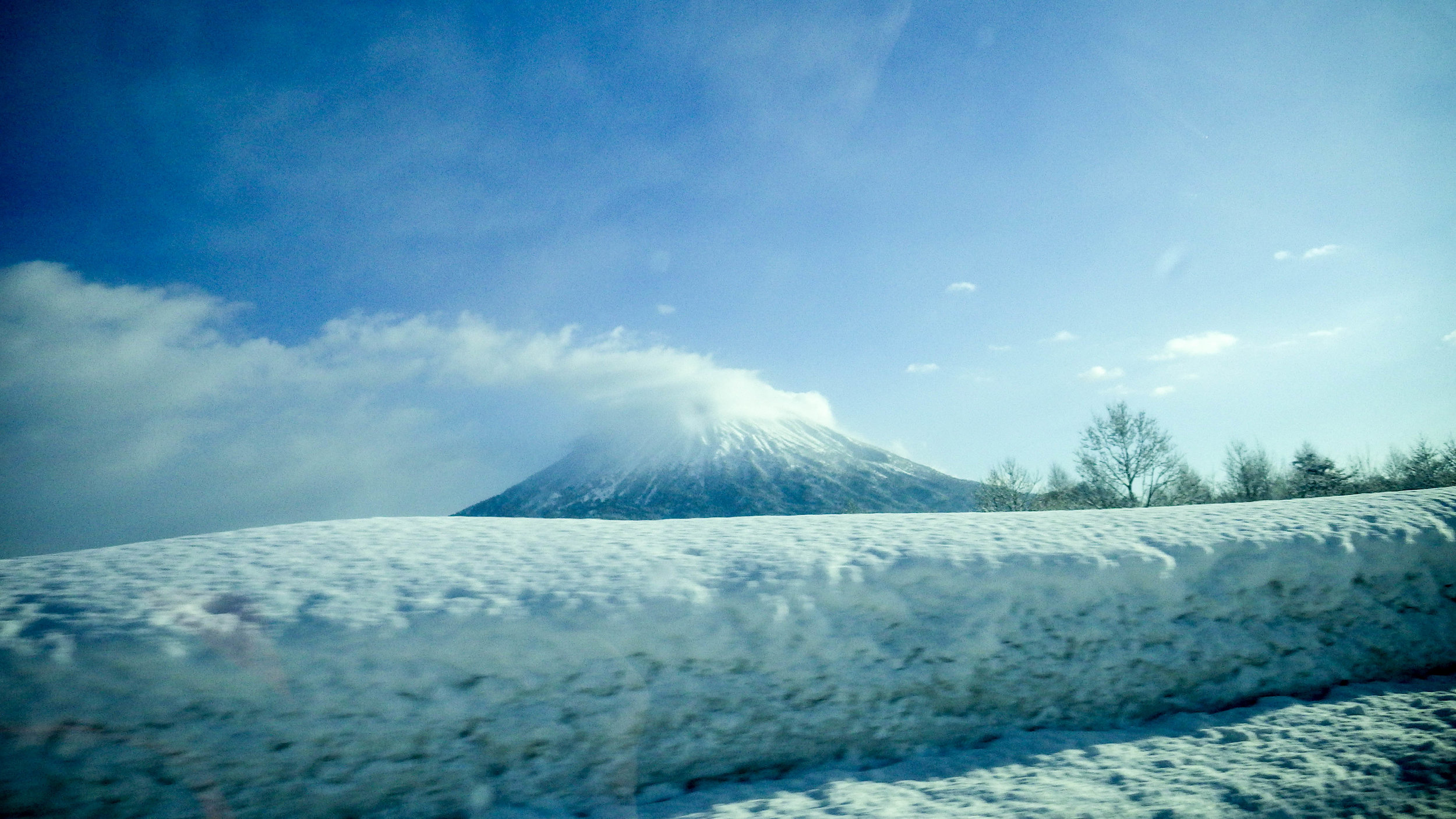 Mt. Yotei from our car window