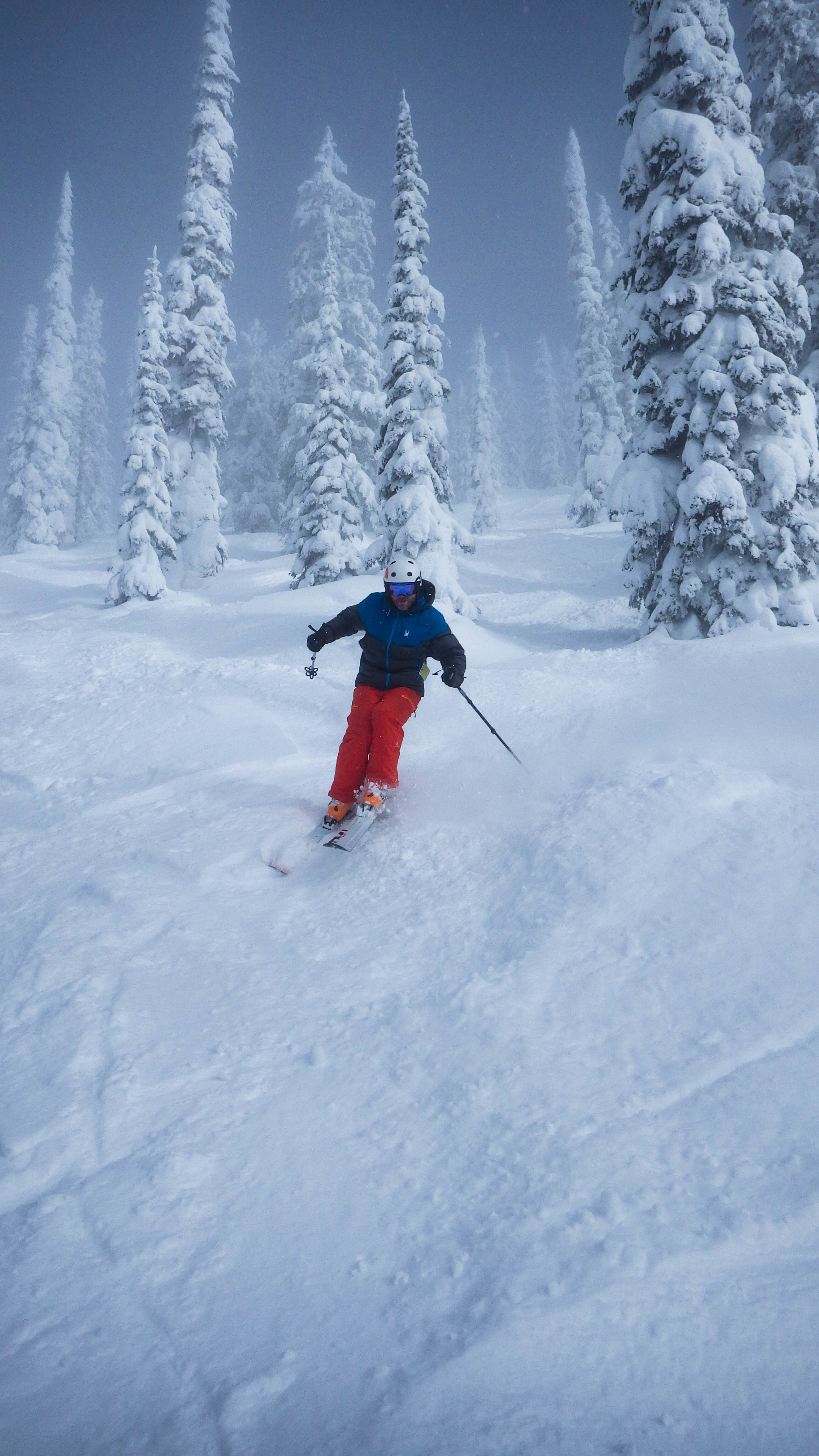 Tree skiing in Whitewater