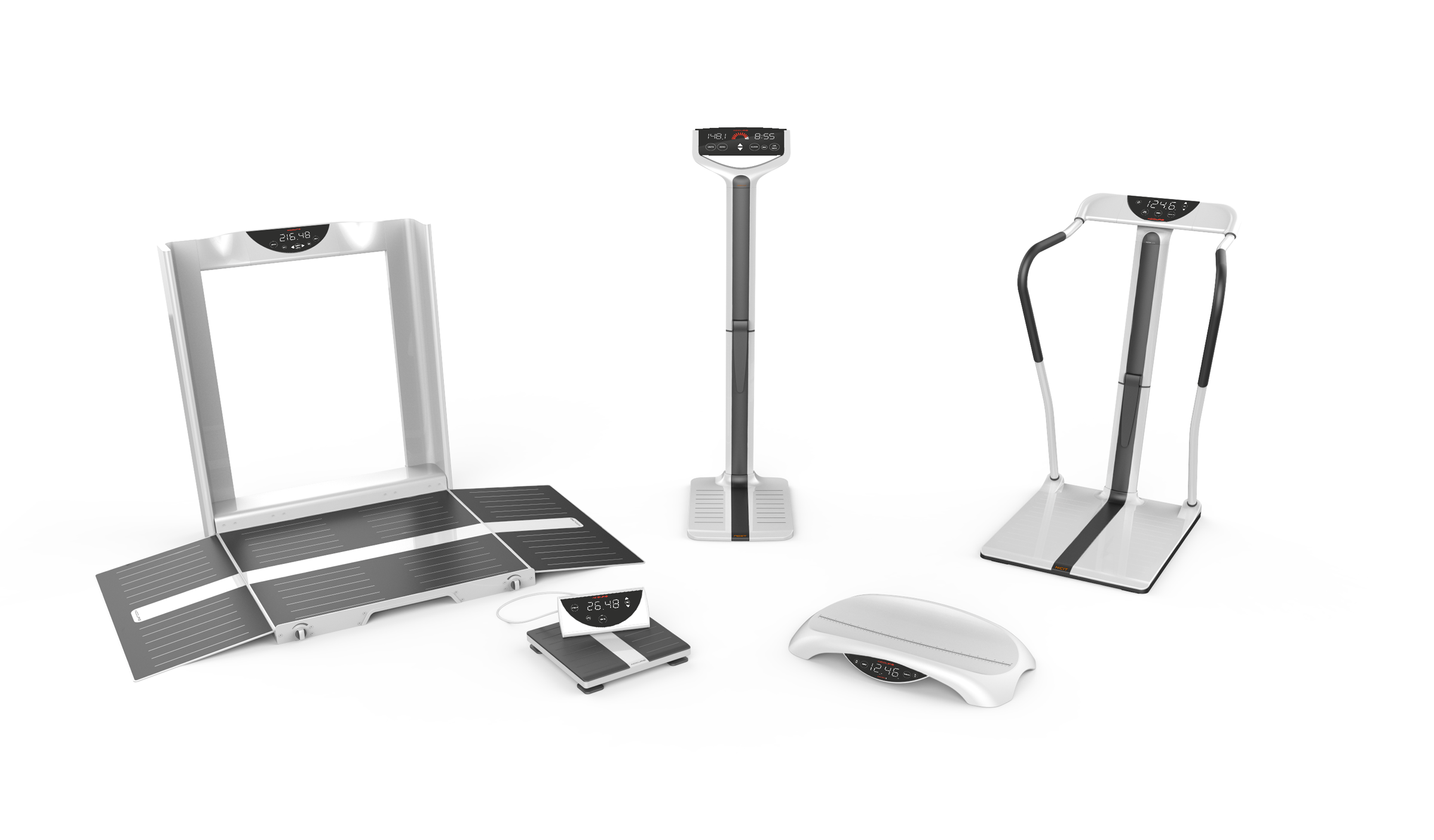 high quality render of the NCIT Digital Medical Scales lineup