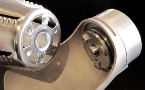 detailed view of two HyCite Food Cutter prototype components