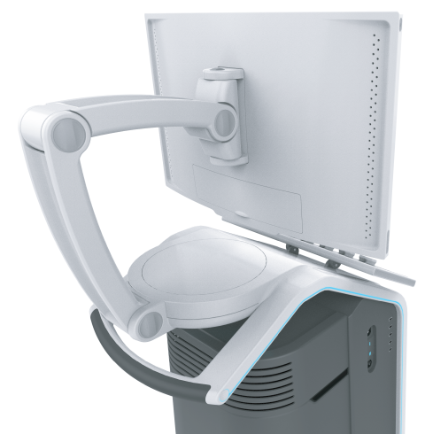 detailed view of the Professional Ultrasound's adjustable screen arm
