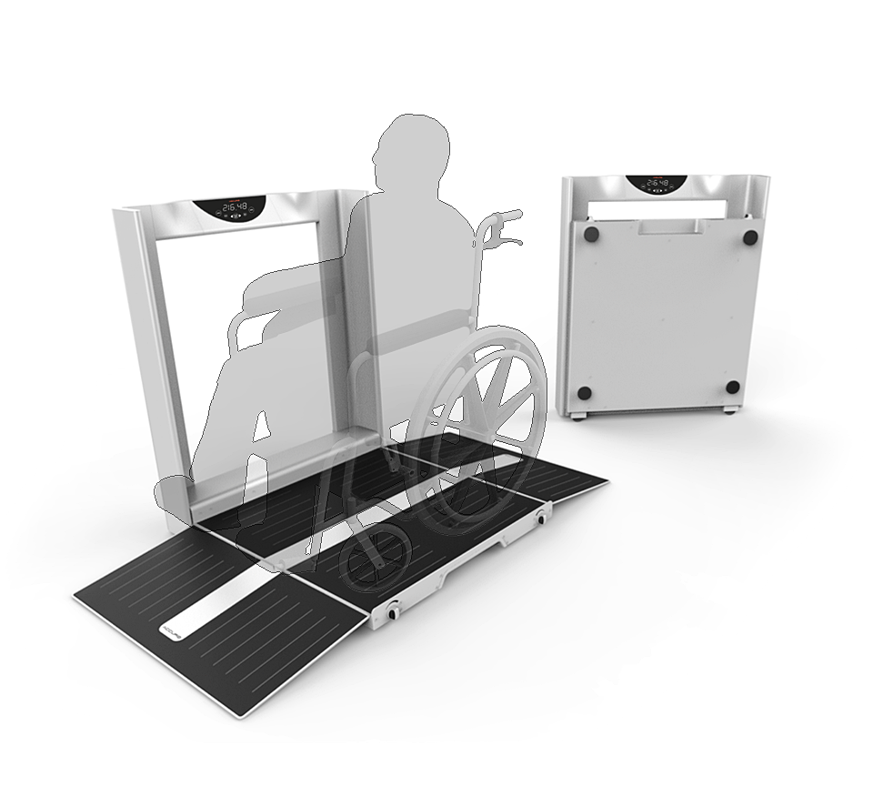 High quality render of the NCIT Digital Wheelchair Scale