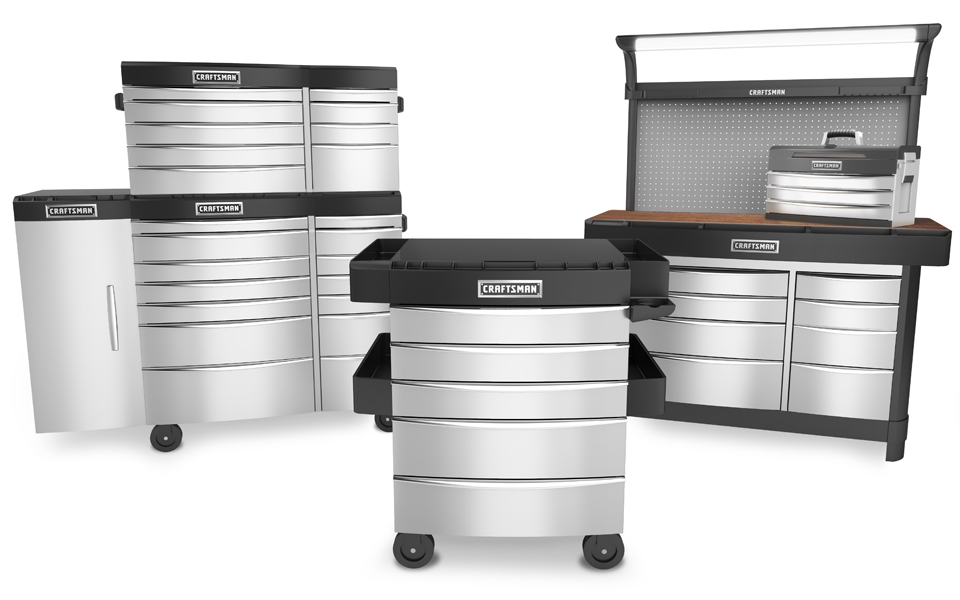 High quality rendering of the Waterloo Coleman Storage product lineup on a white backdrop