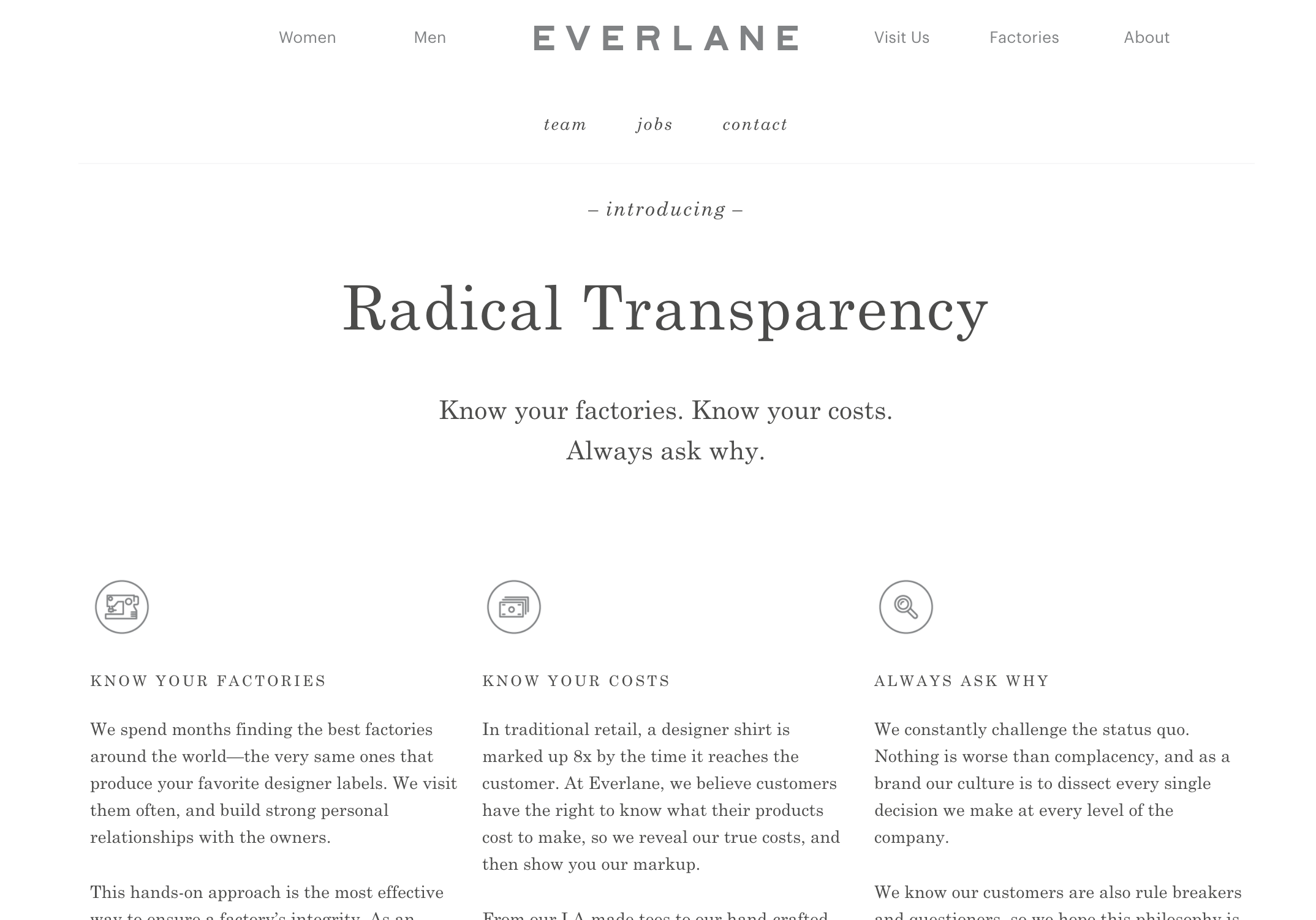 Everlane Manifesto example.png