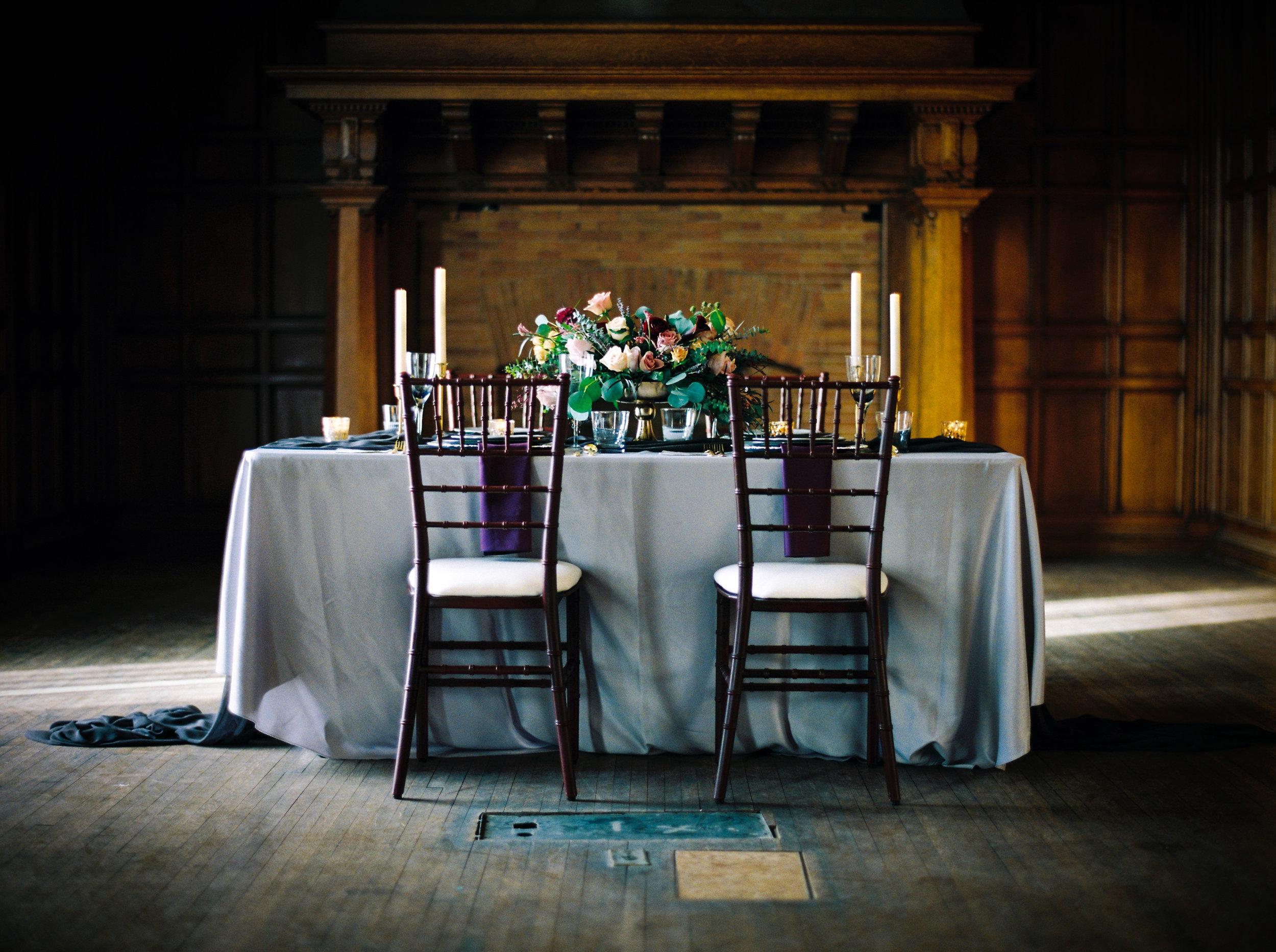 Moody Tablescape Wedding Inspiration Winnipeg Wedding Planner