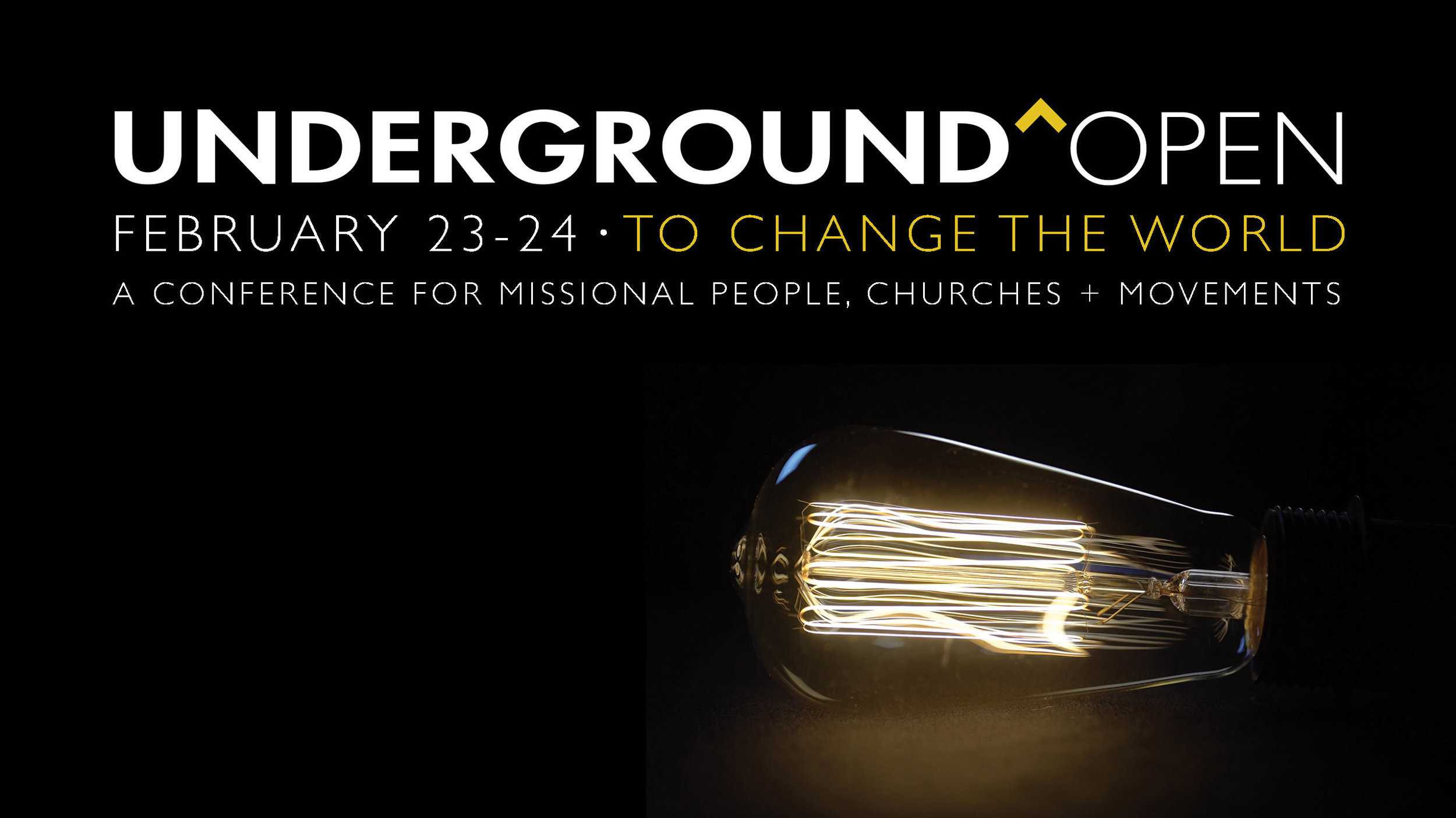 Underground Open   February 22-24, 2018  This global conference gathers sister movements from around the world to focus on what's core to seeing church movement happen. We love to host guests during this time.