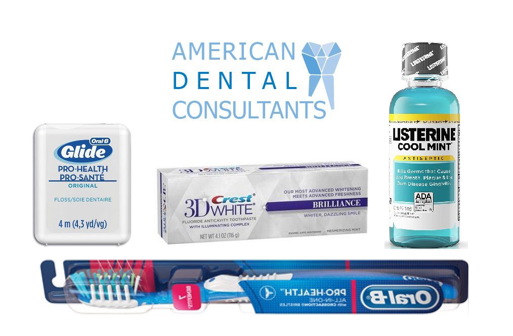 Home/Travel Teeth Care Kit - All-inclusive travel kit for you to take on-the-go for an affordable price. The kit contains toothbrush, floss, toothpaste, and mouth wash.