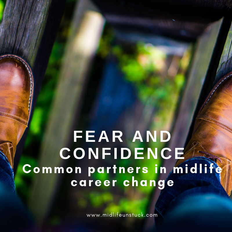 Career change at our age isn't often easy - it can be good to have a partner-in-design to help you through the fear and confidence dance.