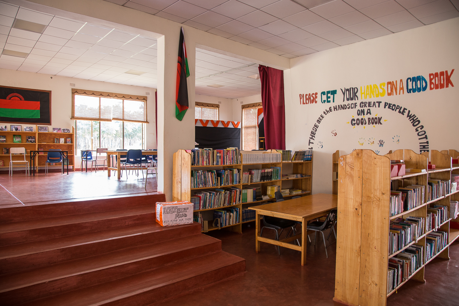 The library at Mzuzu Academy holds the country's largest collections of books by African authors.