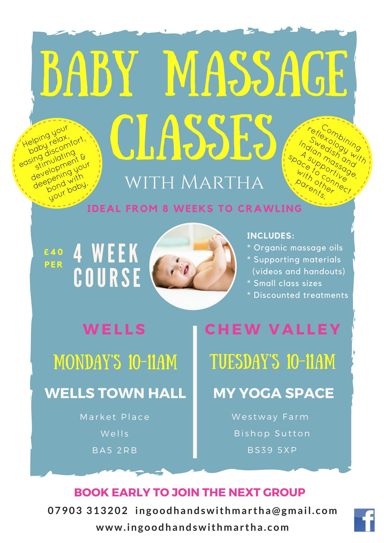 Baby Massage Classes In Wells & Chew Valley