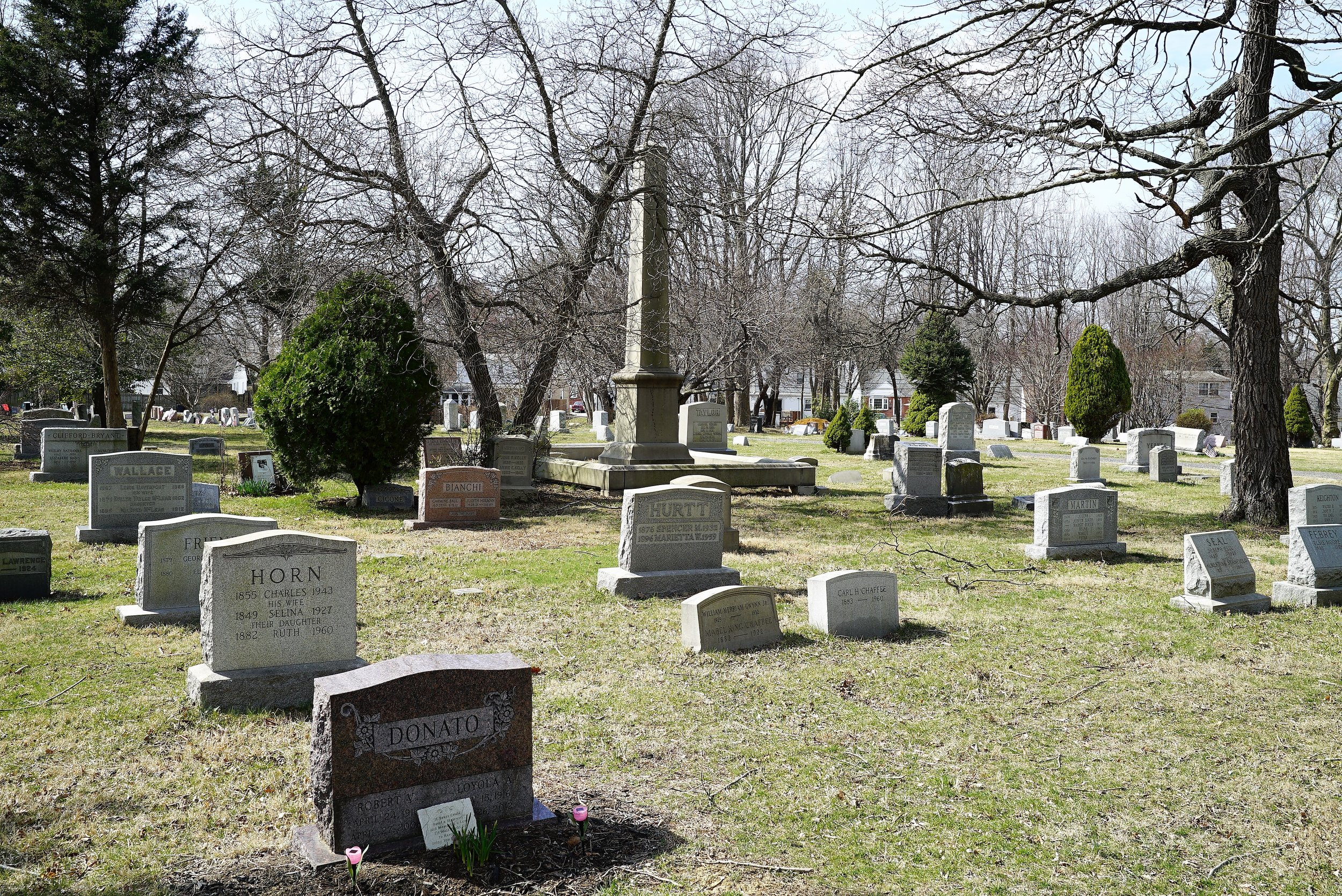 Photo of Eastlawn Cemetery, Ridley Township, Pennsylvania.
