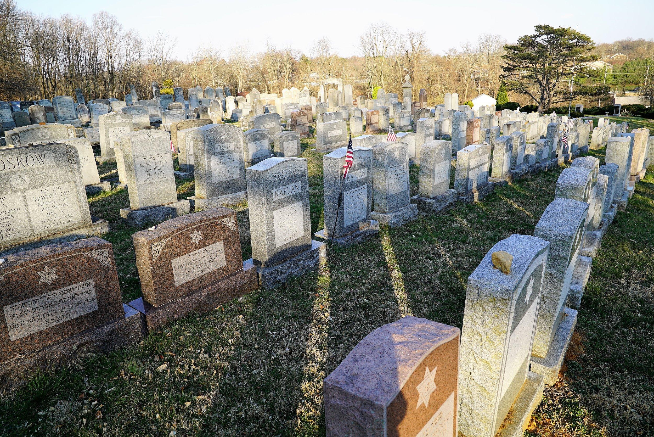 Photo: Ohev Shalom Cemetery. Brookhaven, Pennsylvania.