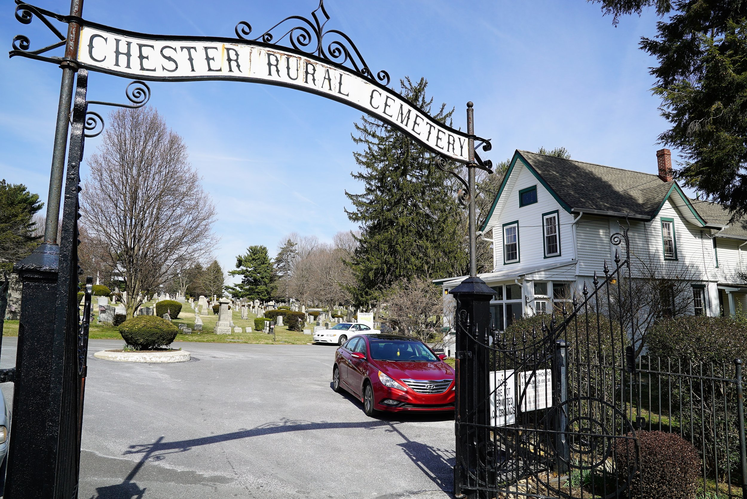 Main entrance to Chester Rural Cemetery, Chester, Pennsylvania.