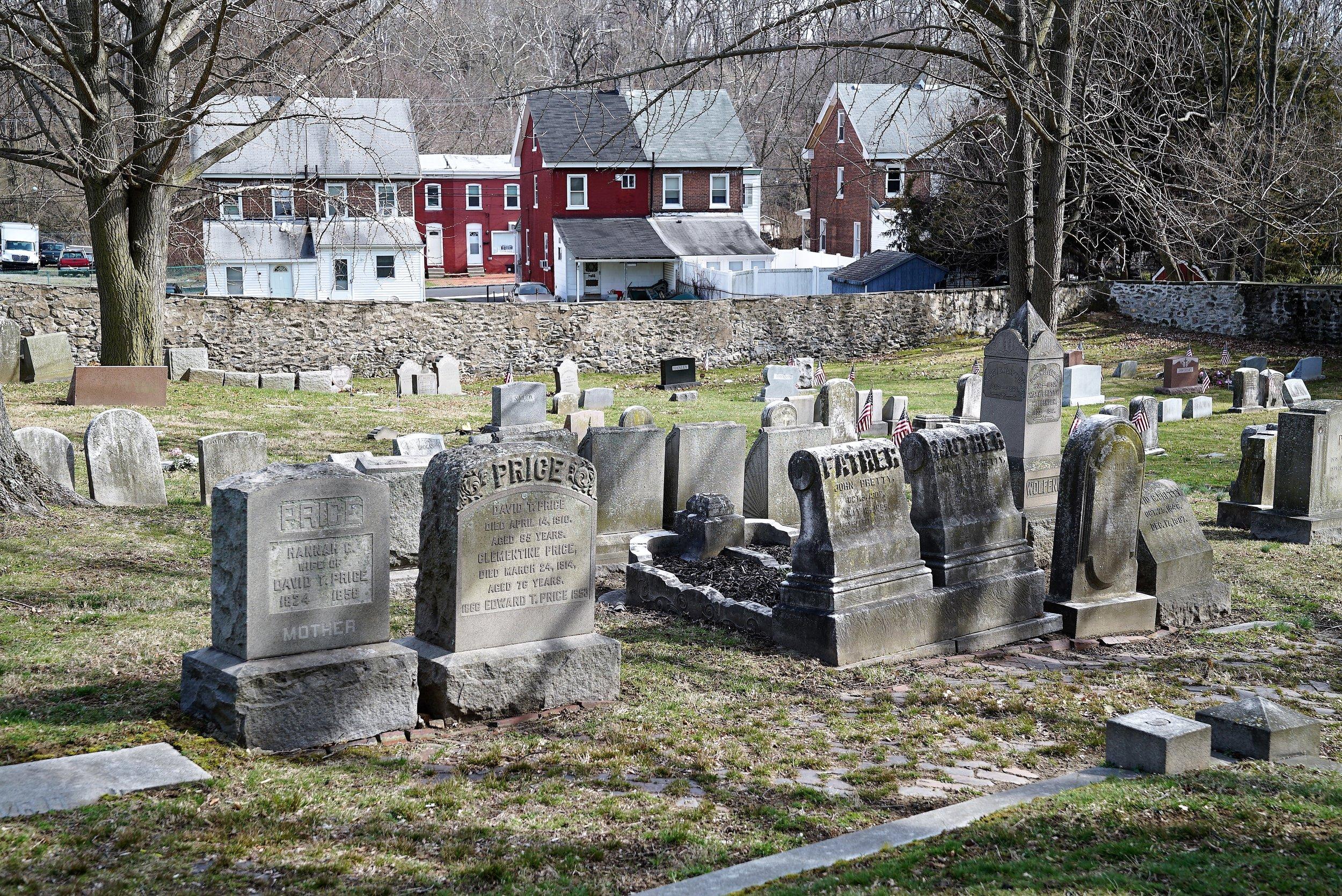 Photo: Upland Baptist Church Cemetery. Upland, Pennsylvania.