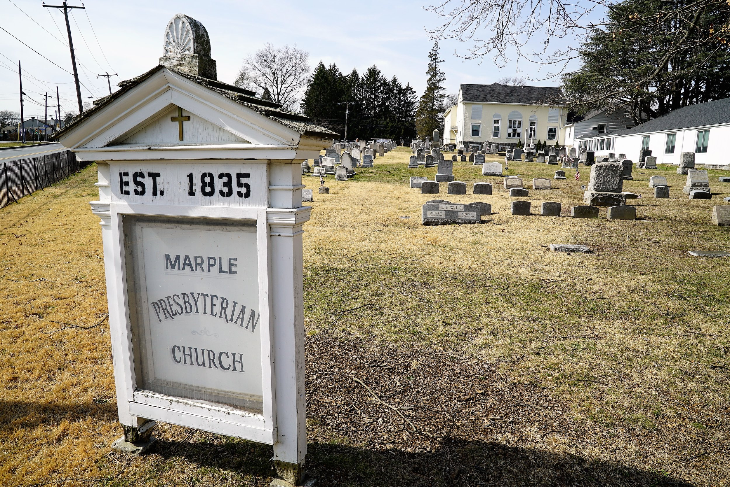 Photo: Marple Presbyterian Church Cemetery. Broomall, PA.