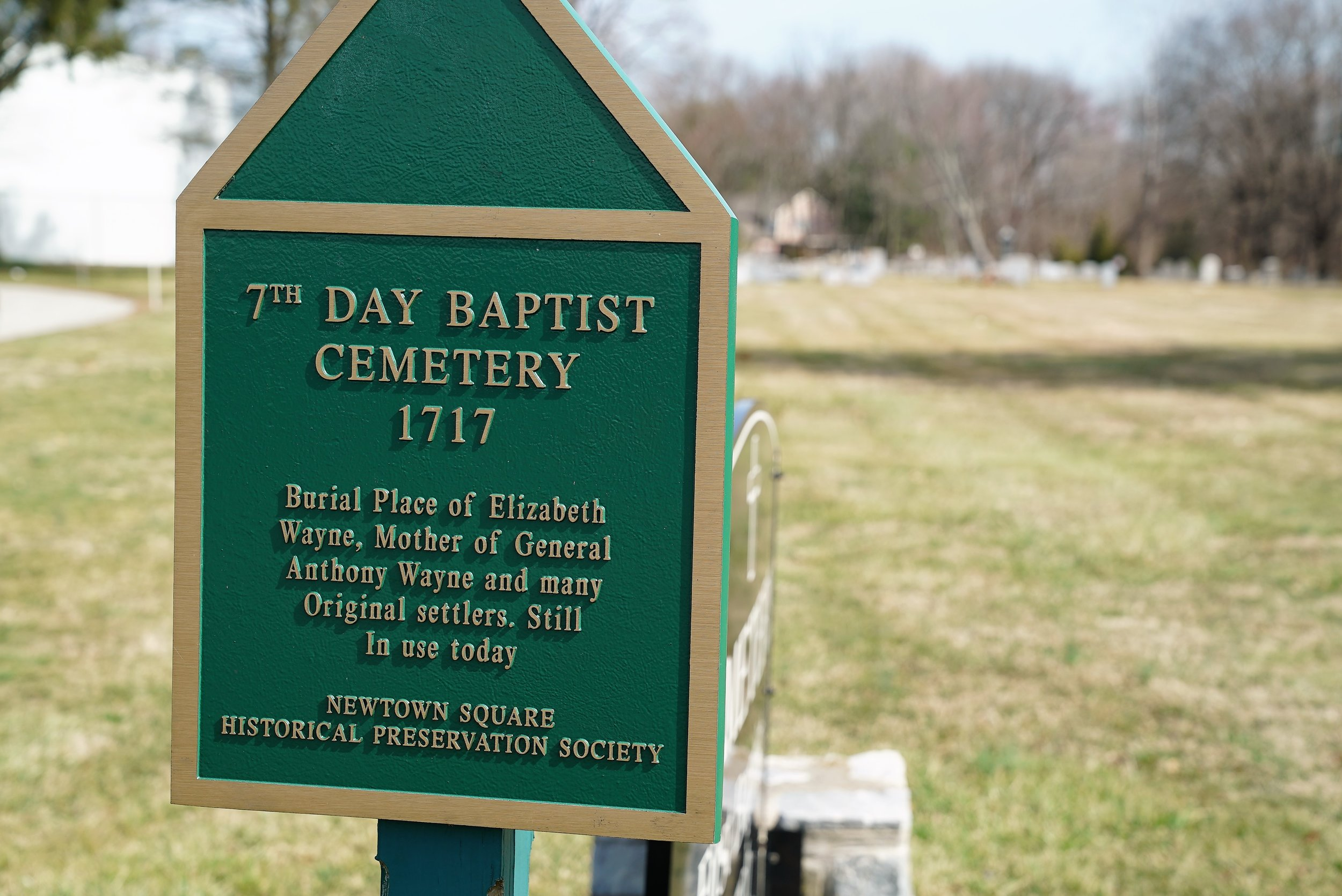 At the First Baptist Church Of Newtown Square Cemetery. (Newtown Square, Pennsylvania.)