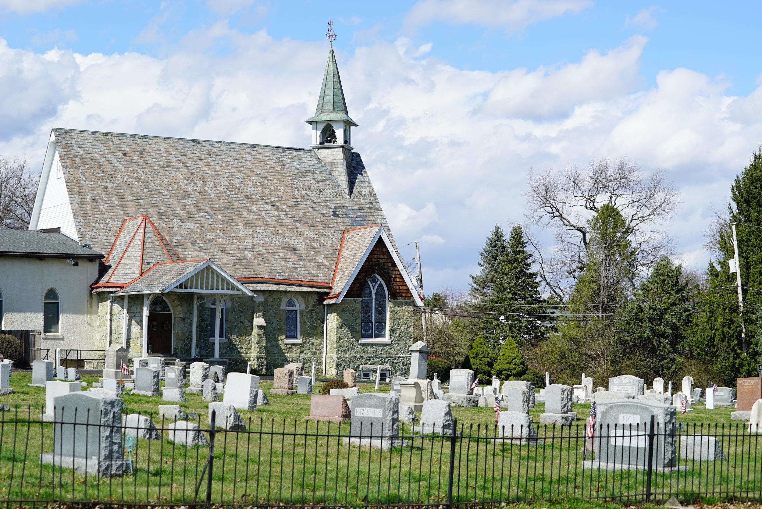 Bethlehem United Methodist Church Cemetery. Thornton, Pennsylvania. Early April 2017.