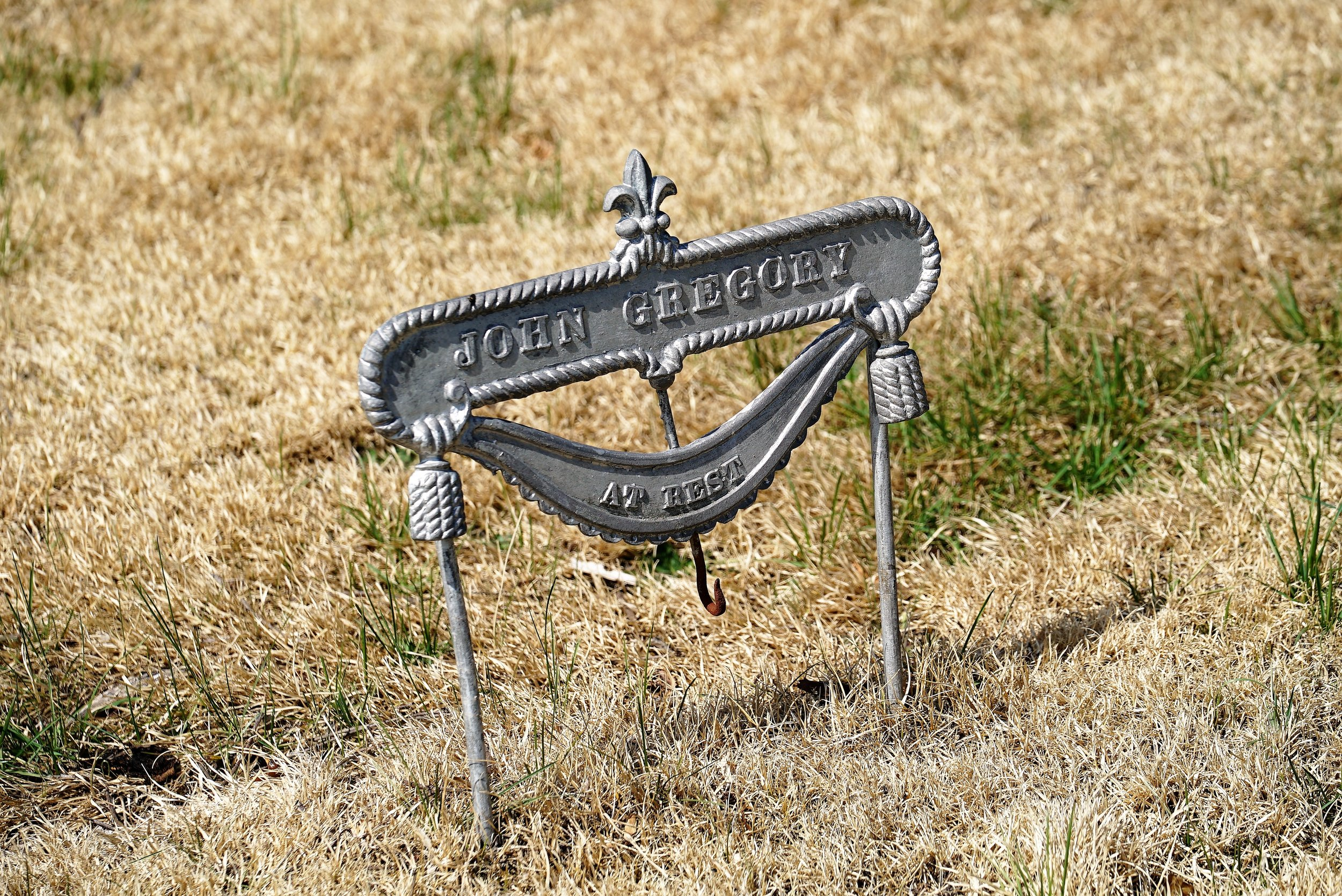 An unusual grave marker found at Old Union United Methodist Church Cemetery. Rose Valley, Pennsylvania.