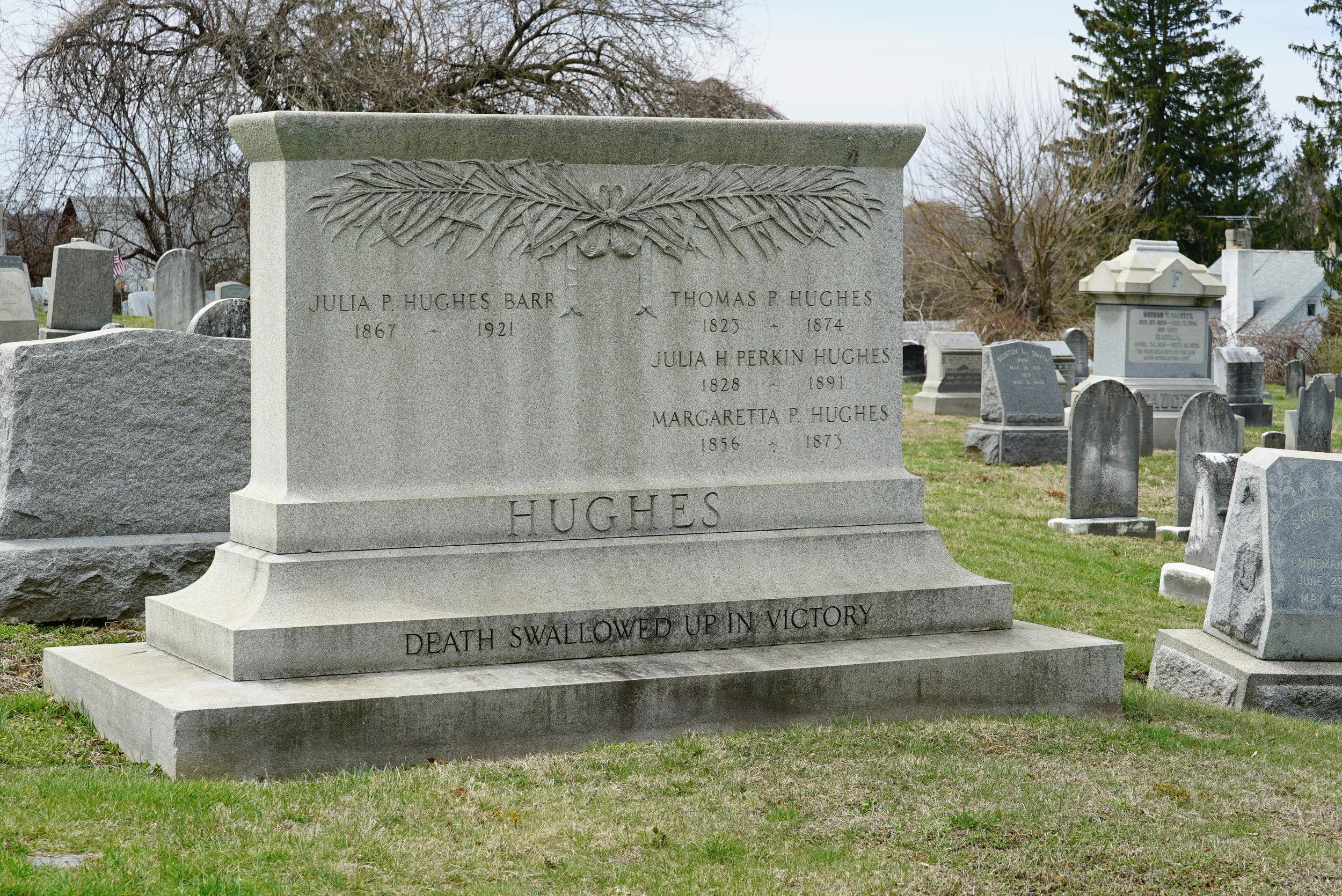 "Unusual tombstone inscription: ""Death swallowed up in victory."" Saint John's Episcopal Church Cemetery. Glen Mills, PA."