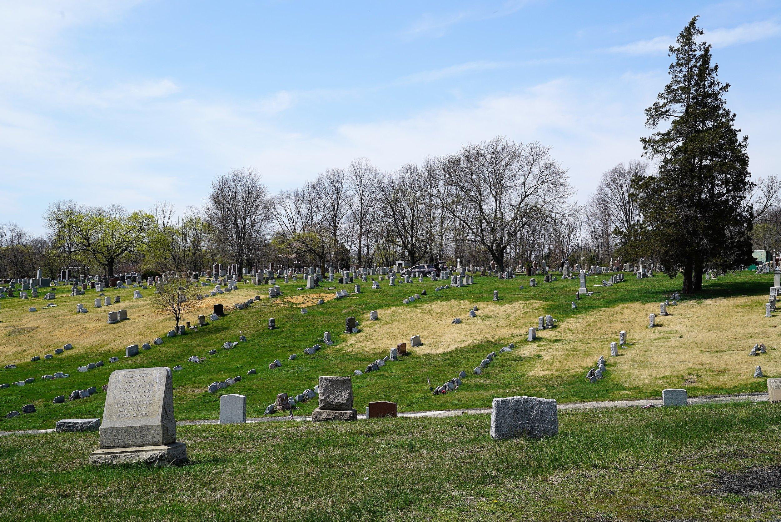 Above: Mount Zion Cemetery. Collingdale, PA. April 11, 2017