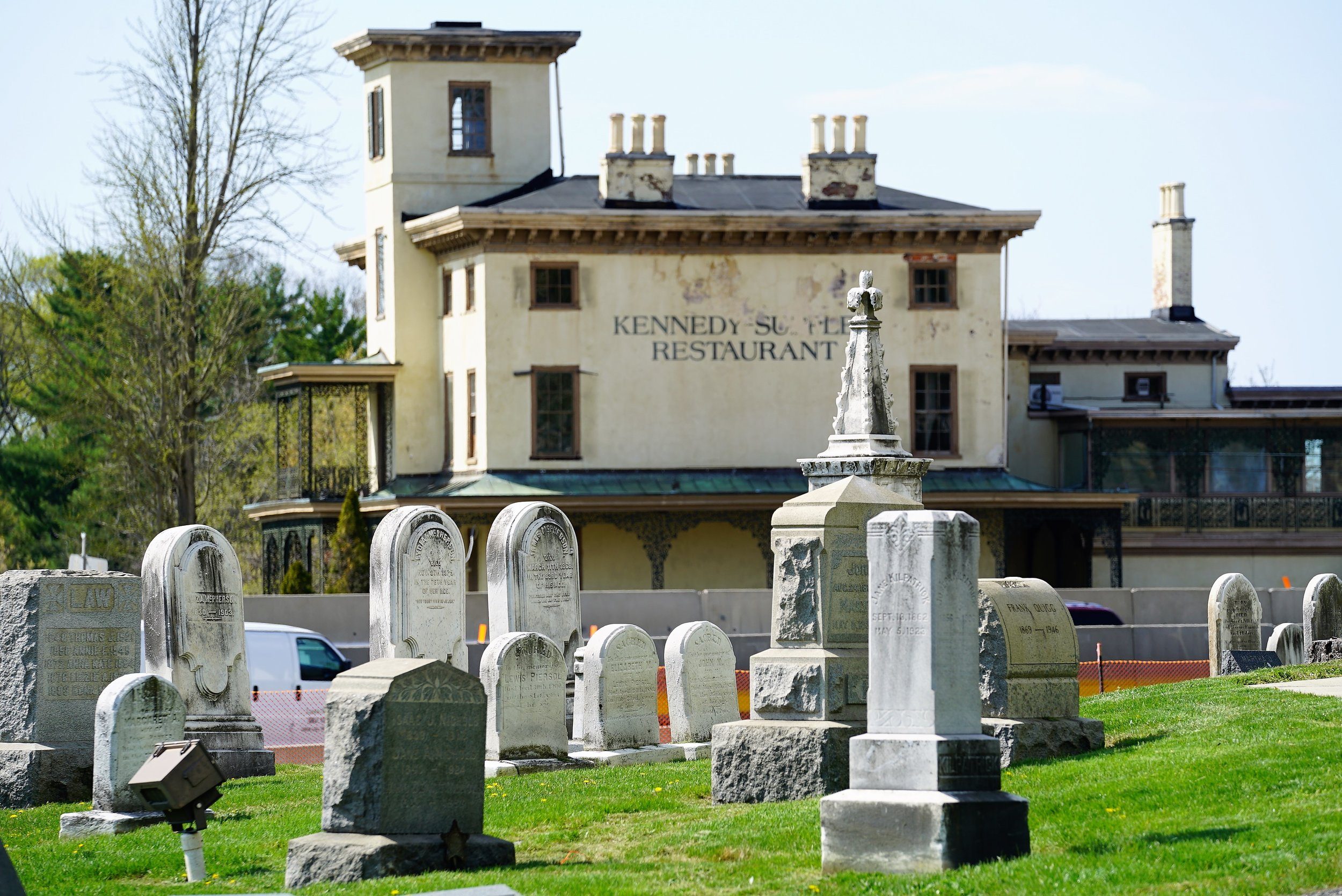 The former Kennedy-Supplee Mansion Restaurant sits across the highway from First Presbyterian Church Of Port Kennedy. The National Park Service is awaiting a new viable tenant to step forward.