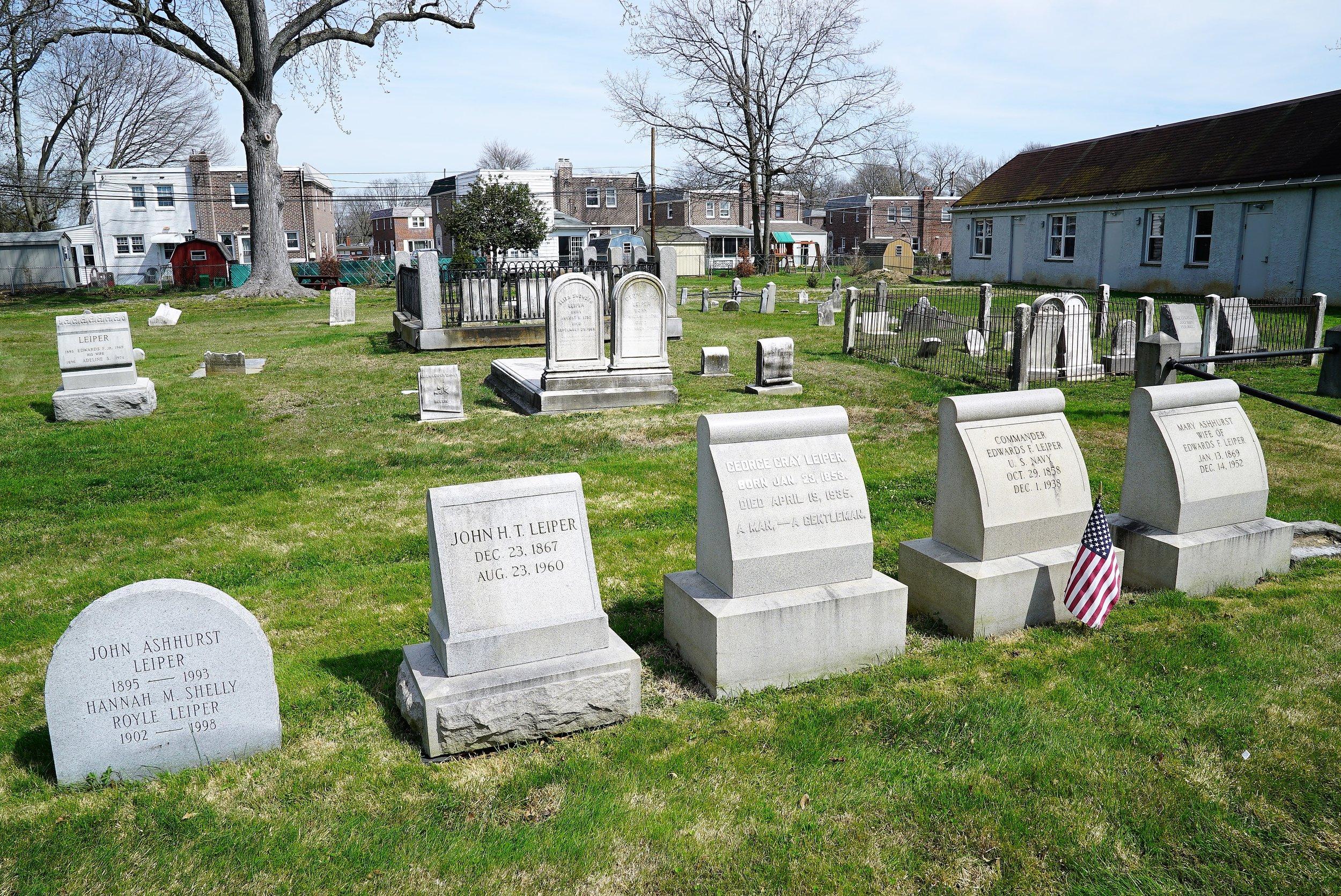 Leiper Church Cemetery. Ridley Township, Pennsylvania.