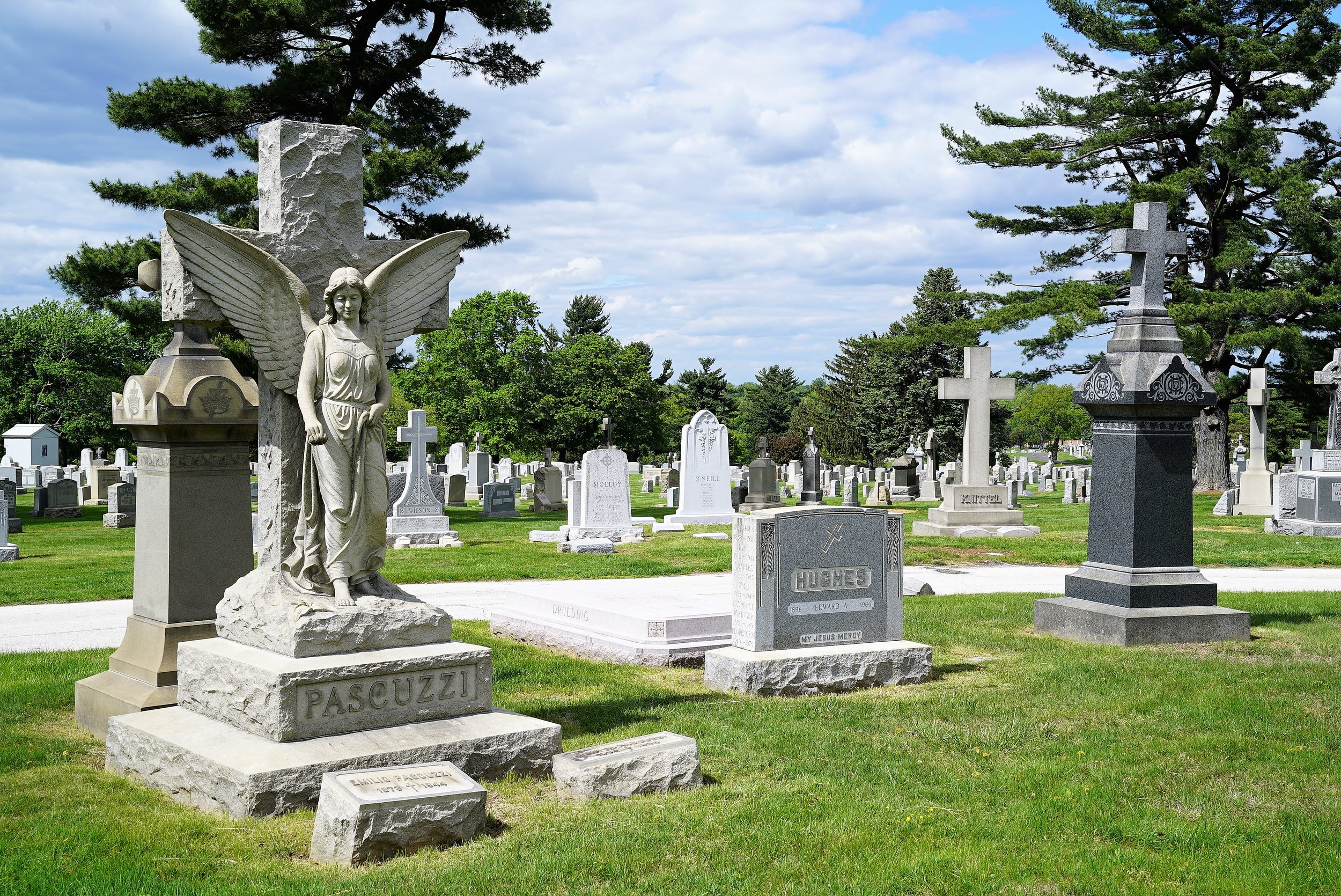 At Holy Sepulchre Cemetery. Cheltenham Township, Pennsylvania.