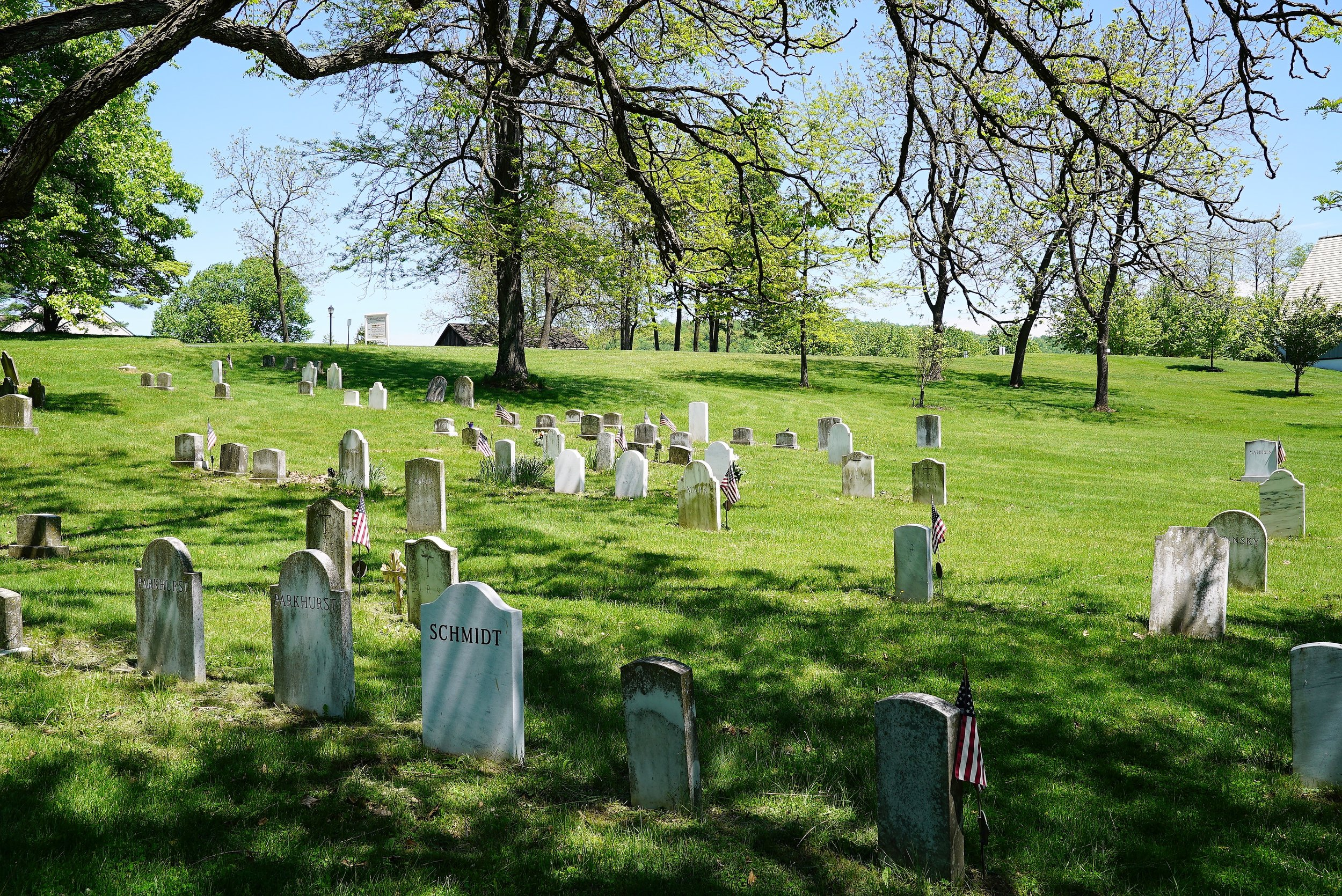 The newer cemetery at St. Peter's Church In The Great Valley. Malvern, Pennsylvania.