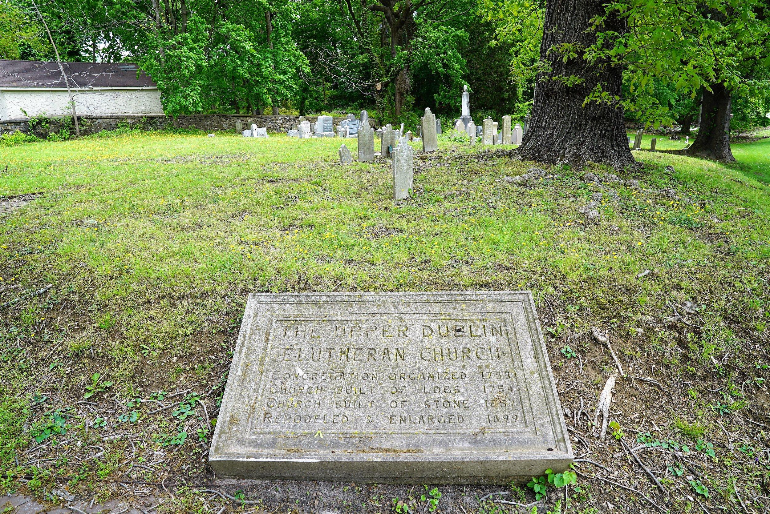At The Upper Dublin Lutheran Church Cemetery. Ambler, Pennsylvania.