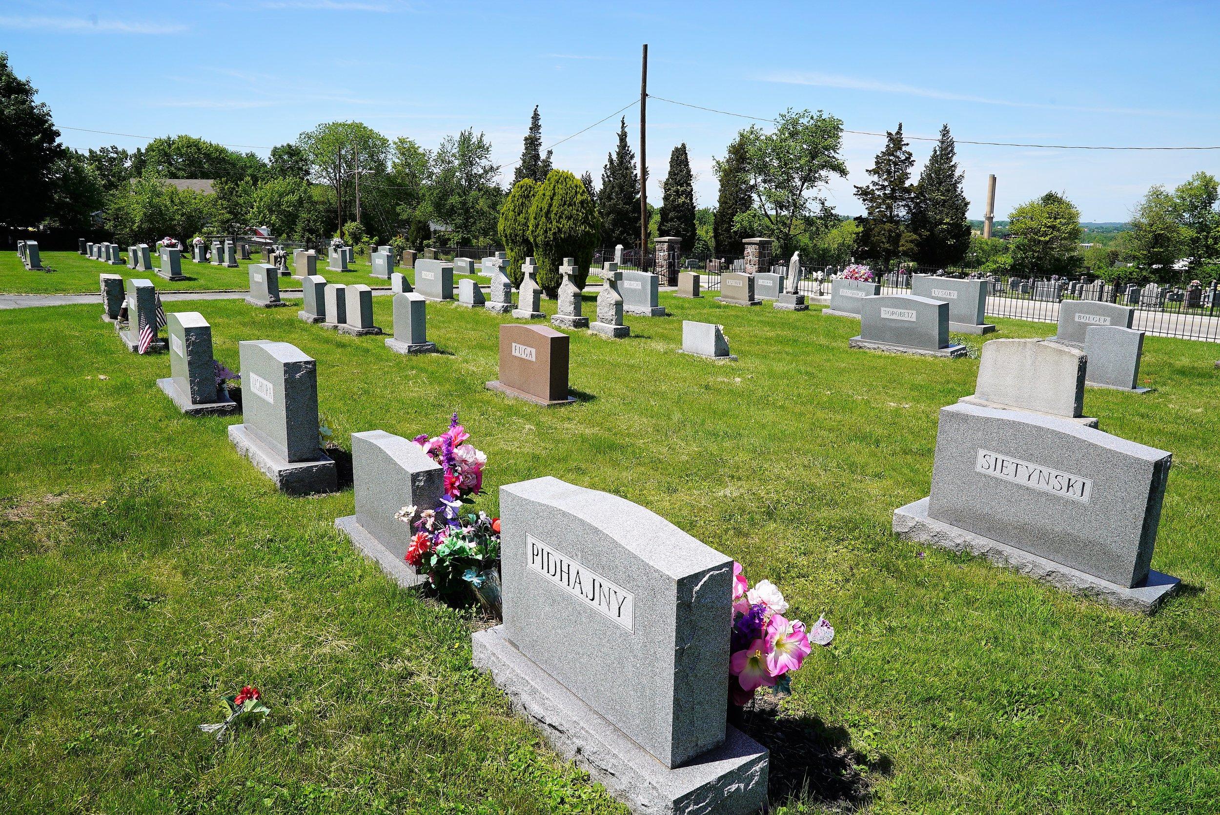 Saints Peter and Paul Ukrainian Catholic Cemetery. Phoenixville, Pennsylvania.