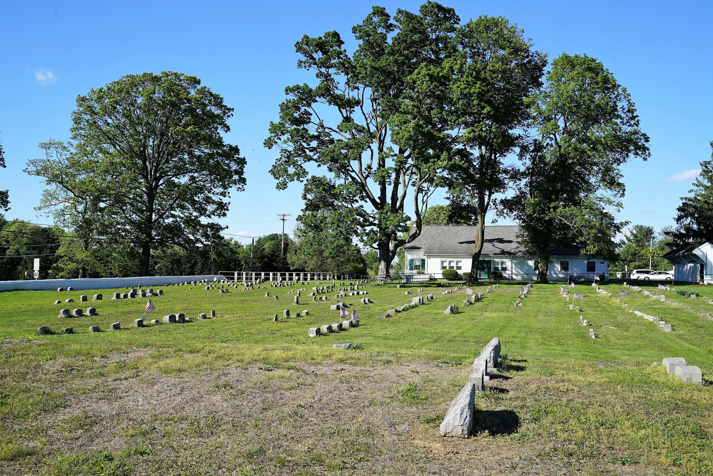 Religious Society Of Friends - Fallowfield Meeting Cemetery. East Fallowfield, Pennsylvania.