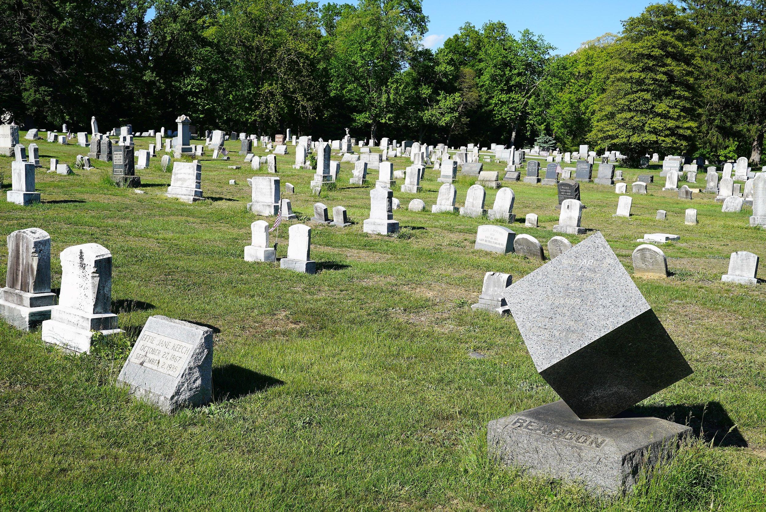 An unusual tombstone from the 1800's. Hephzibah Baptist Church Cemetery. East Fallowfield, Pennsylvania.
