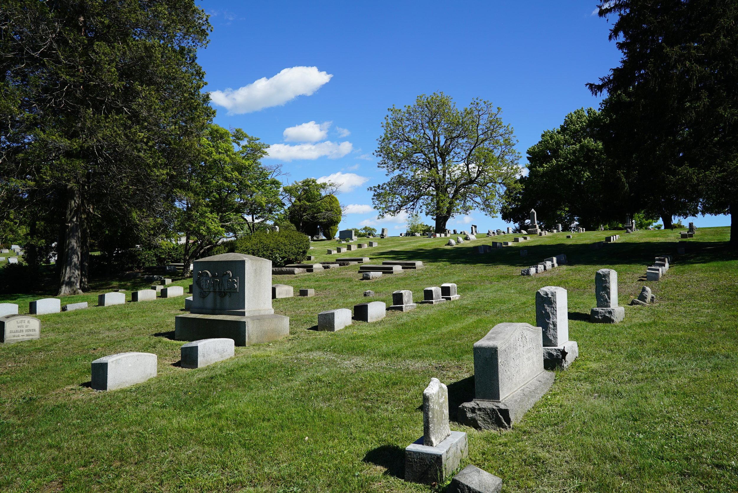 One of the vistas at Fairview Cemetery. Coatesville, Pennsylvania.