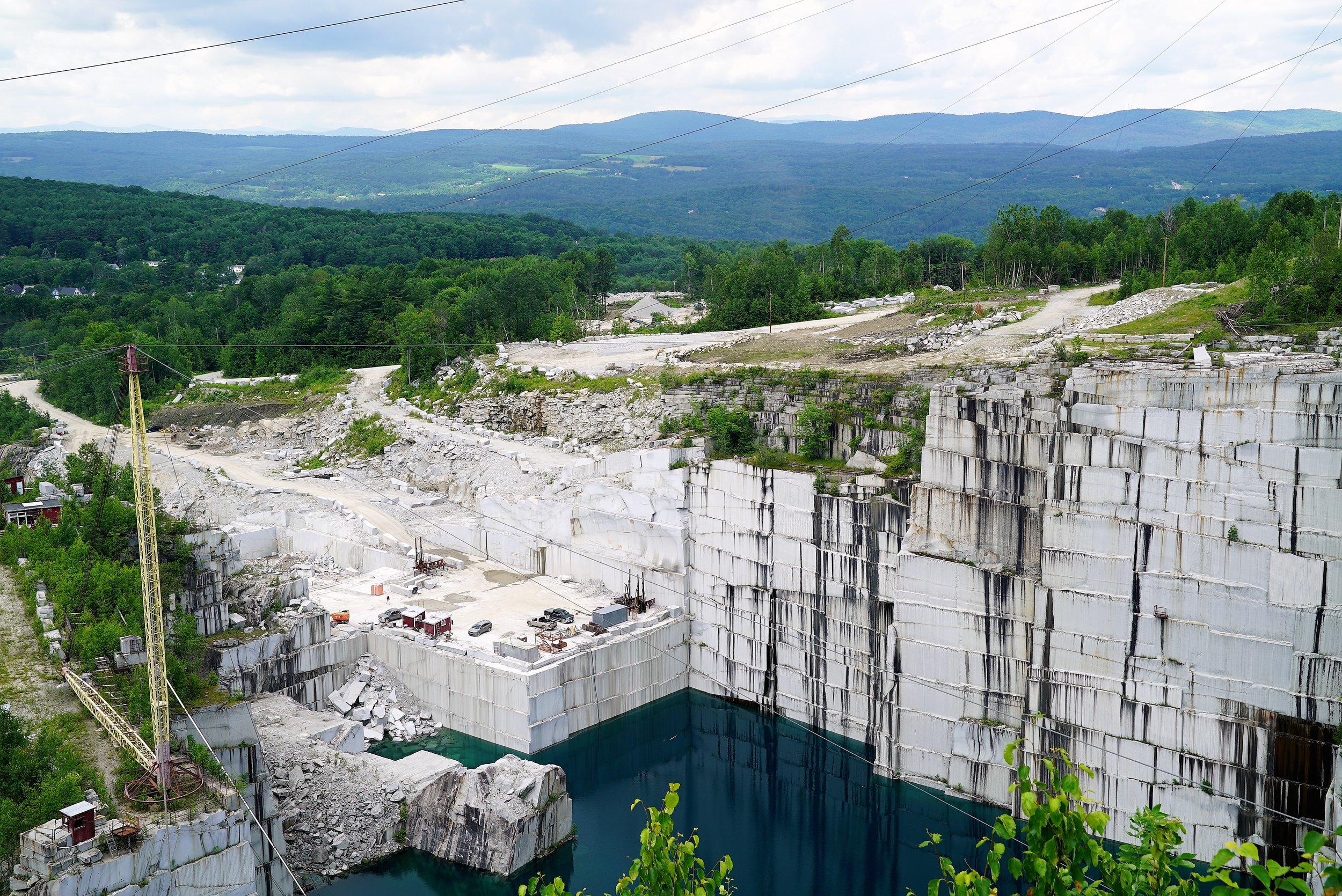One of the granite quarries in the Barre, Vermont area. Unusual fact... That water is 250 feet deep.