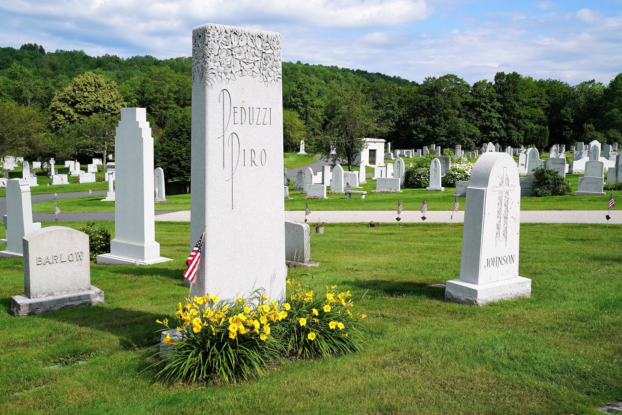 A view at Hope Cemetery in Barre, Vermont.