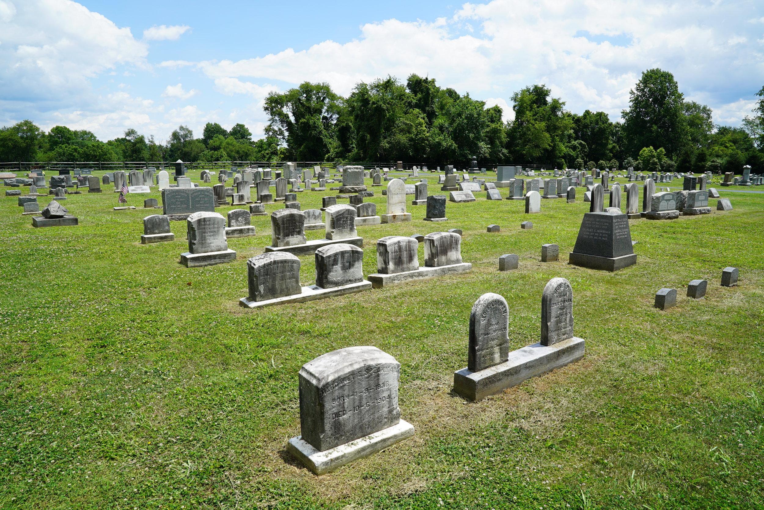 Bradford Cemetery. West Bradford Township, near the village of Marshallton, Pennsylvania.