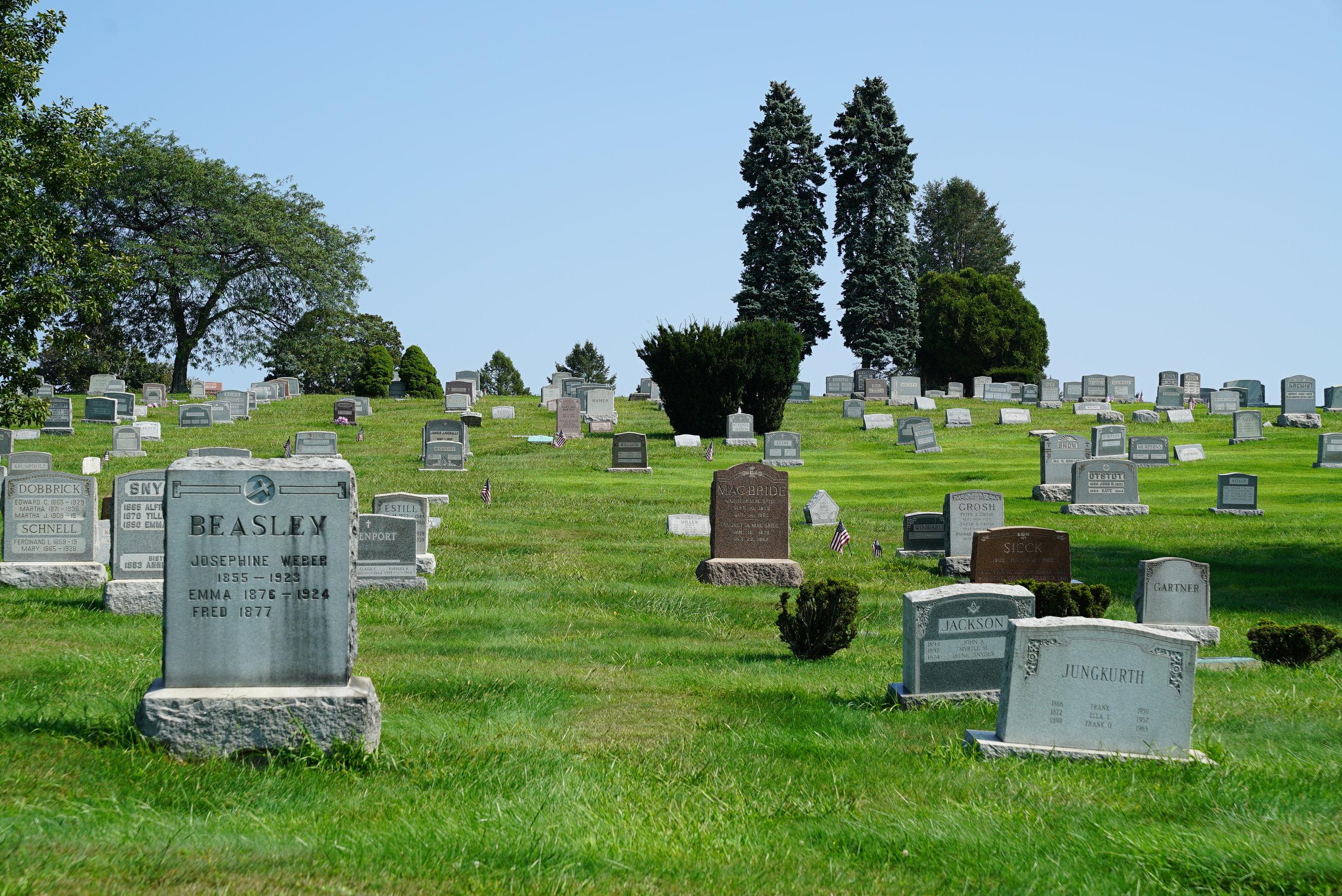 Forest Hills Cemetery. Huntingdon Valley, Pennsylvania.