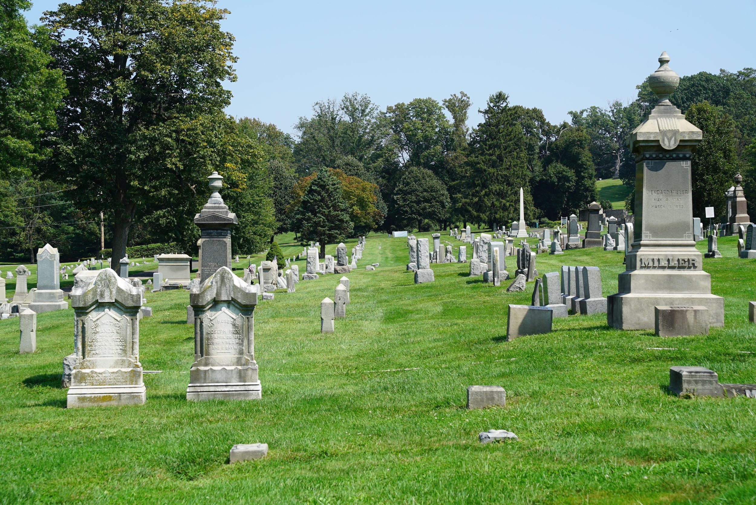 Union Cemetery of Whitemarsh at Saint Miriam. Flourtown, Pennsylvania.