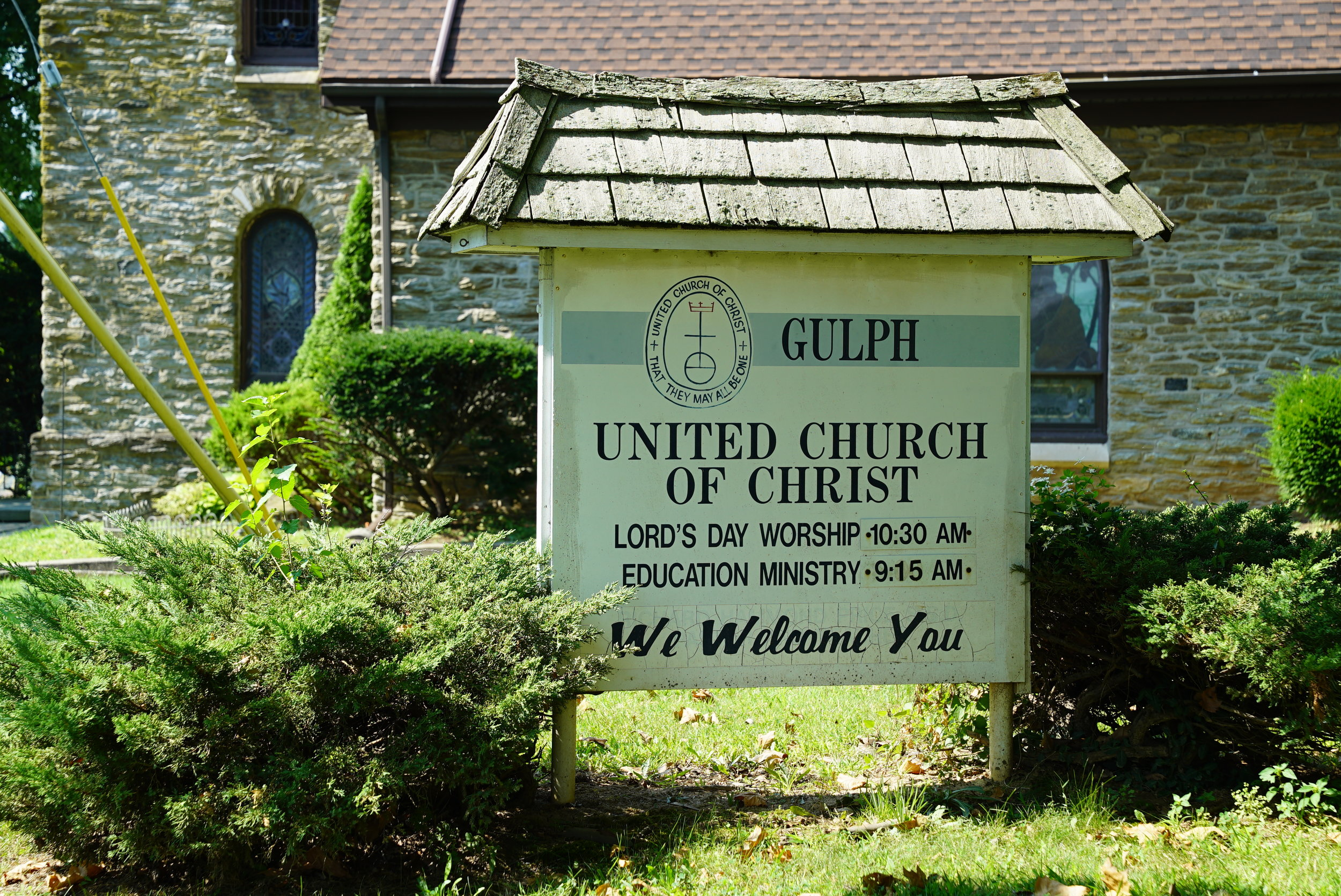 At the entrance to Gulp United Church of Christ Cemetery. West Conshohocken, Pennsylvania.