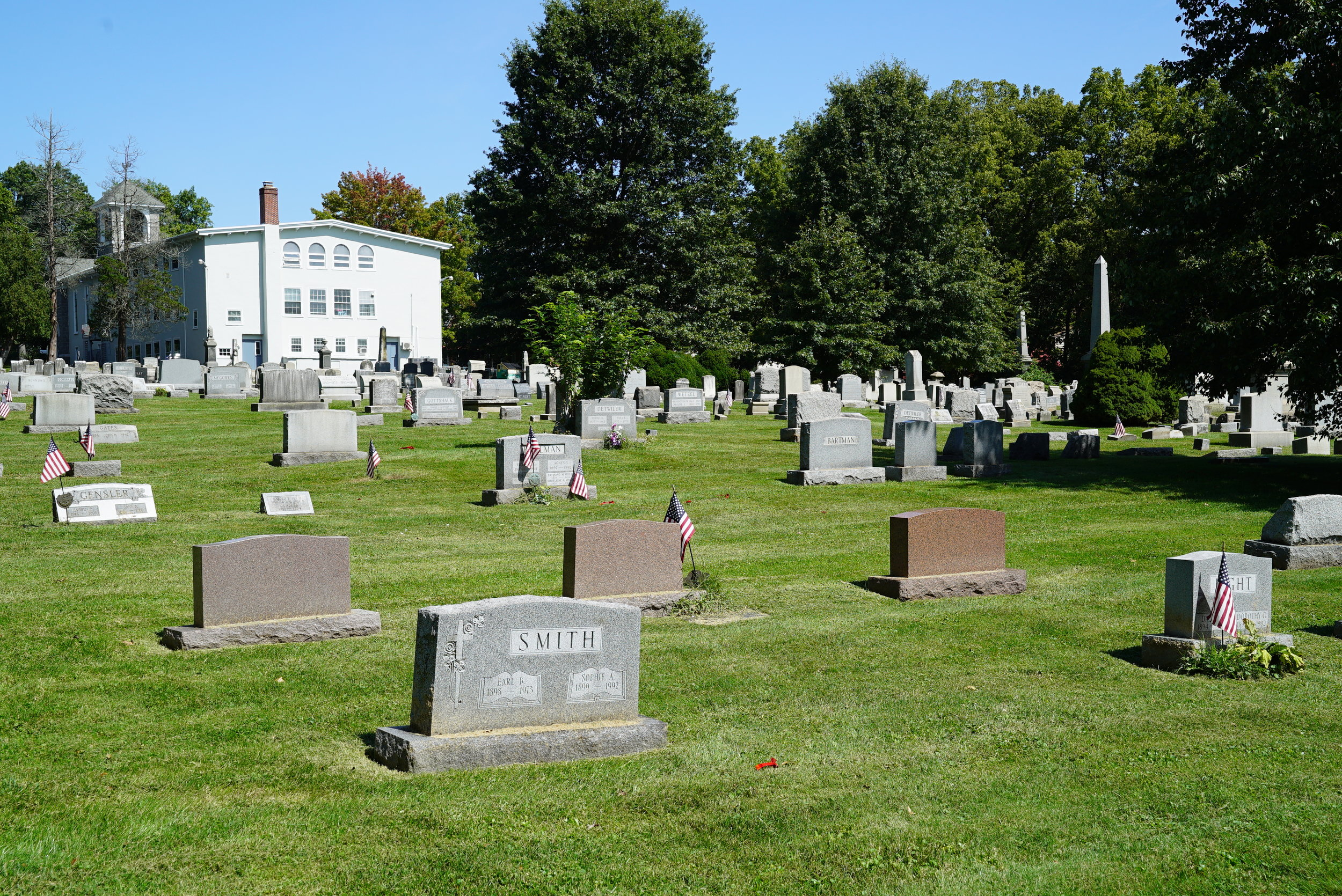 Trinity Reformed United Church of Christ Cemetery. Collegeville, Pennsylvania.