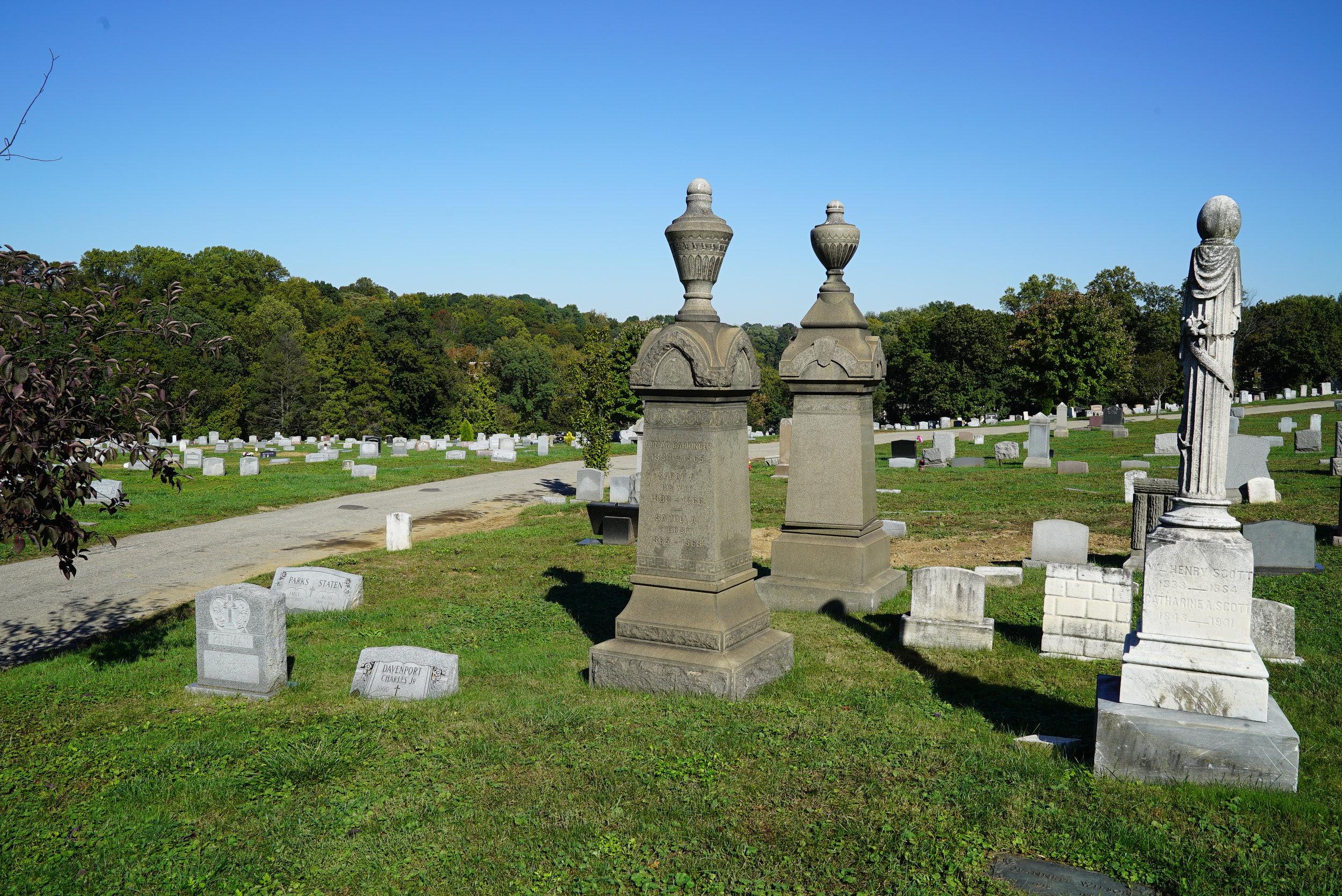 Merion Memorial Park Cemetery. Bala Cynwyd, Pennsylvania.