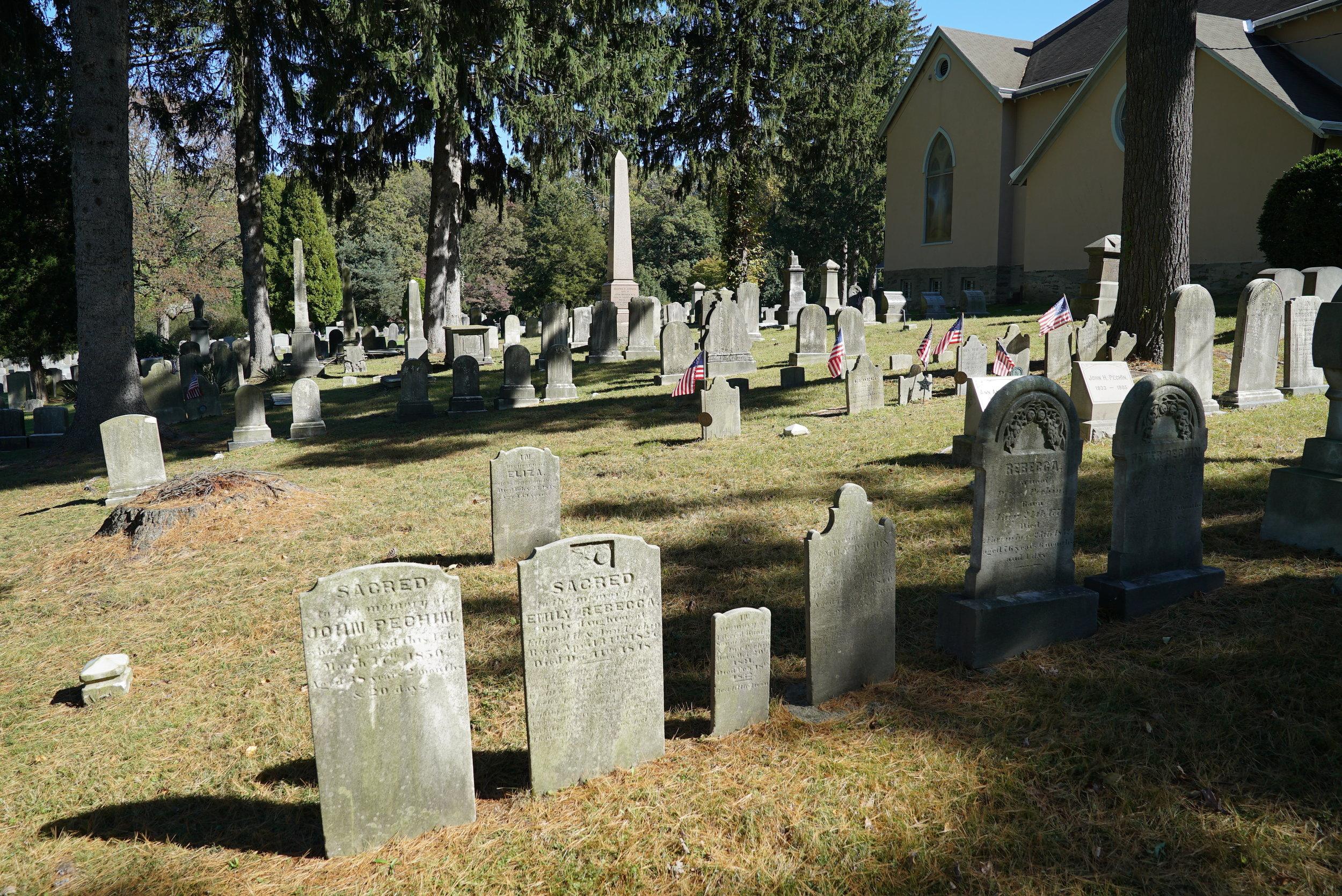 Lower Merion Baptist Church Cemetery. Bryn Mawr, Pennsylvania.